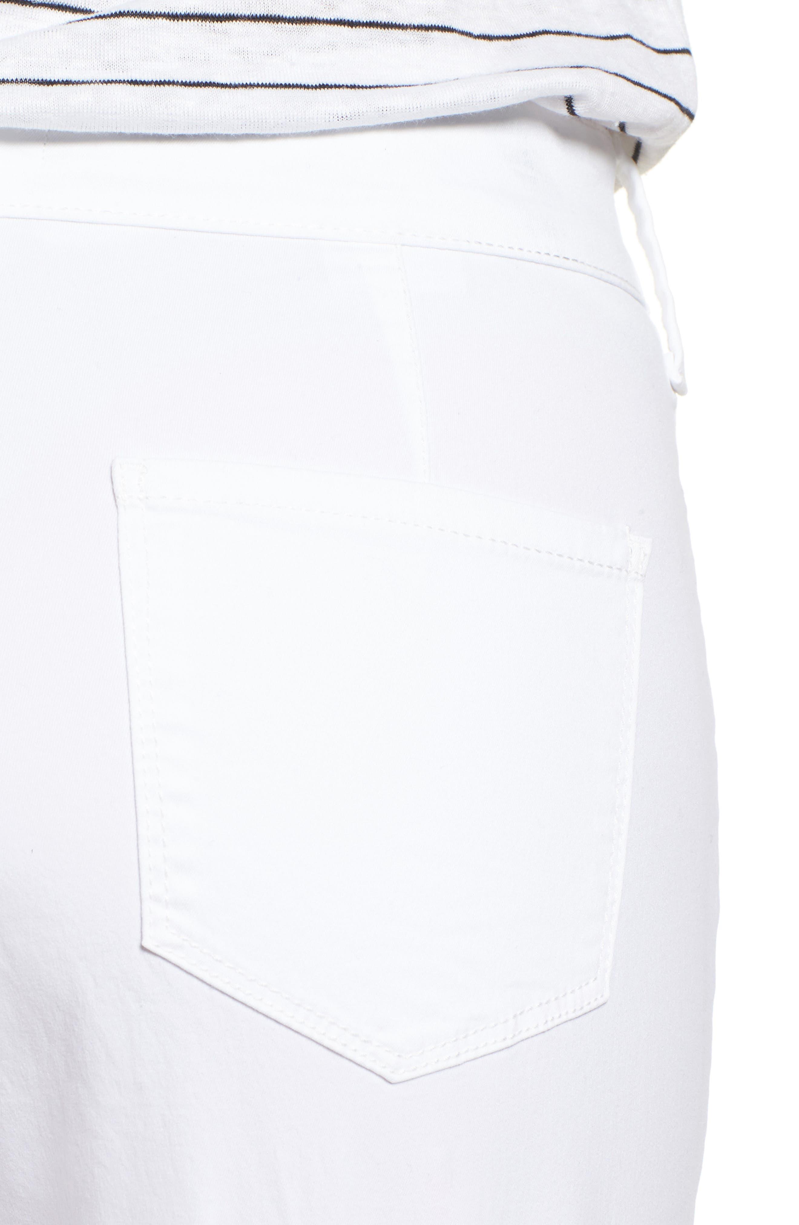Stretch Twill Bermuda Shorts,                             Alternate thumbnail 4, color,                             OPTIC WHITE