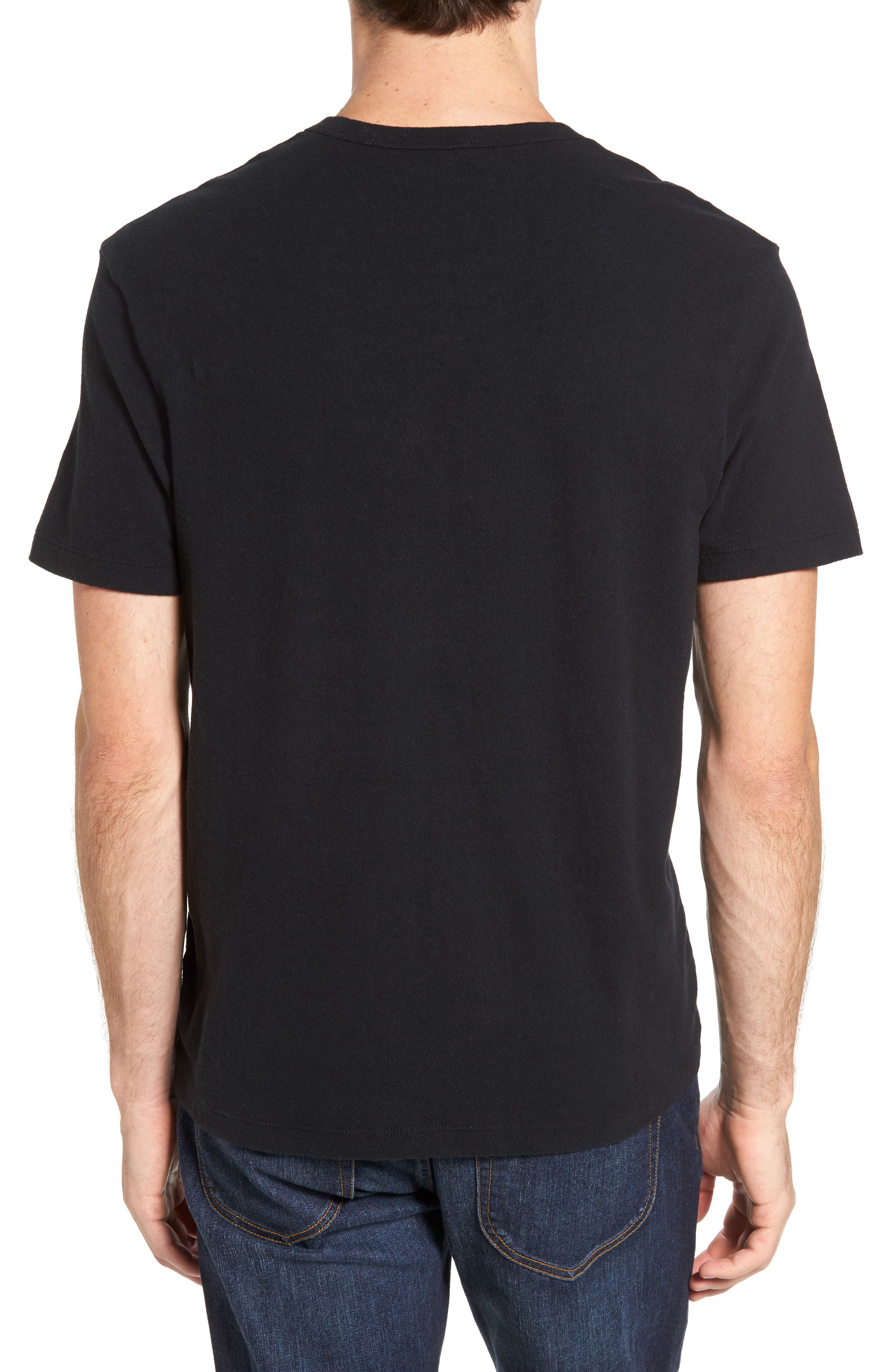Sueded Jersey Pocket T-Shirt,                             Alternate thumbnail 2, color,                             001