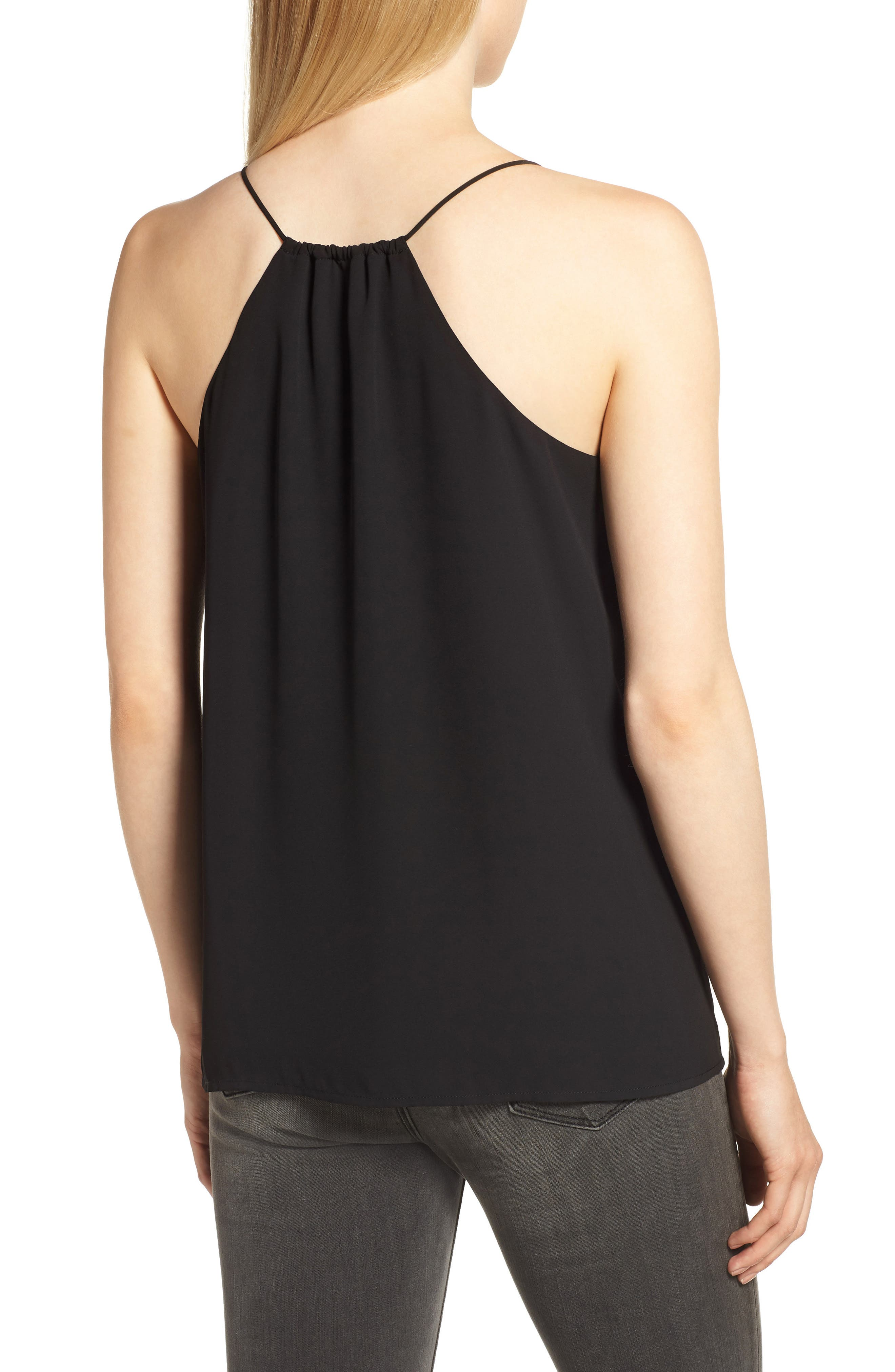 Strappy Tank,                             Alternate thumbnail 2, color,                             BLACK