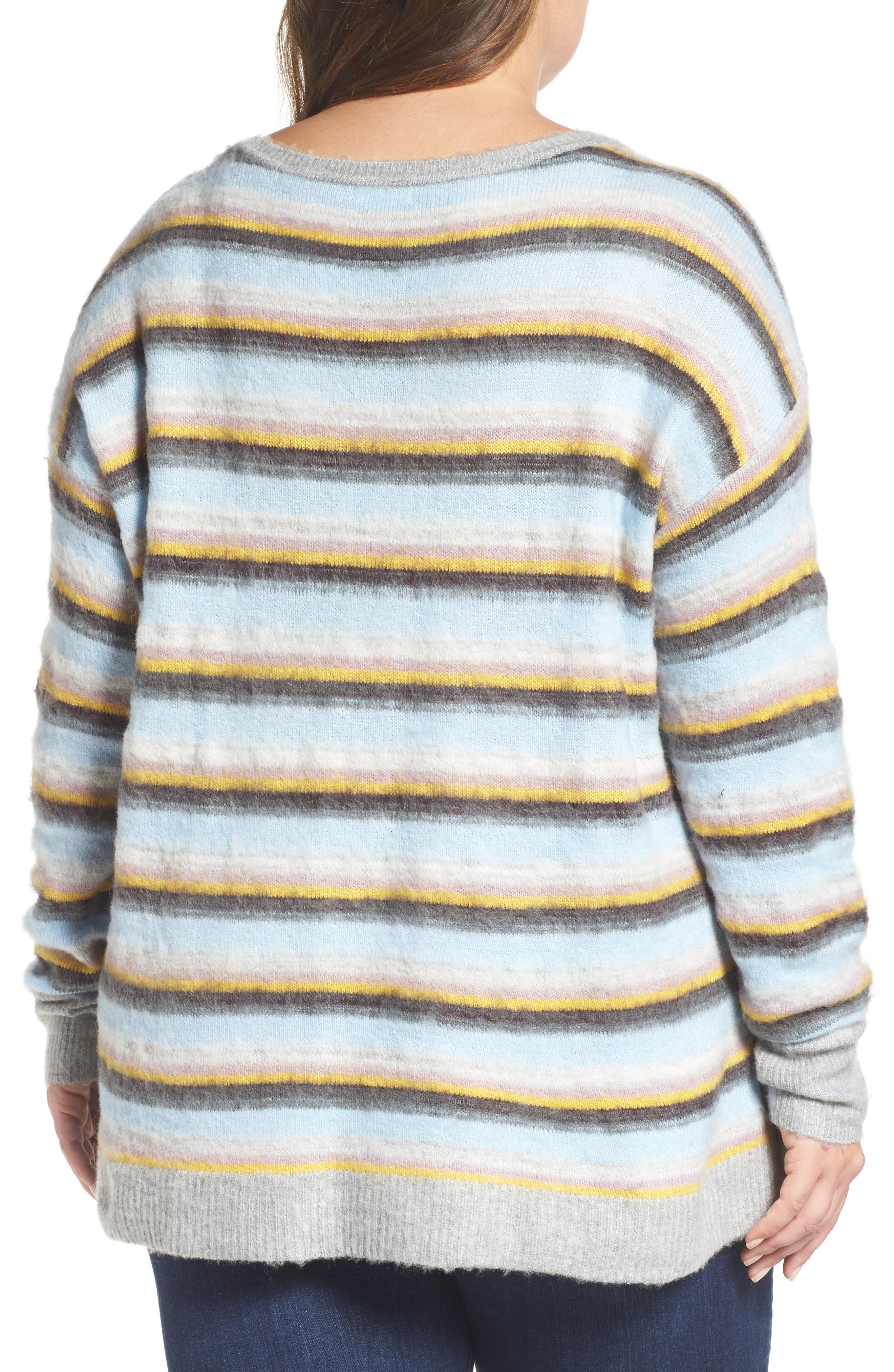 Side Button Sweater,                             Alternate thumbnail 2, color,                             030