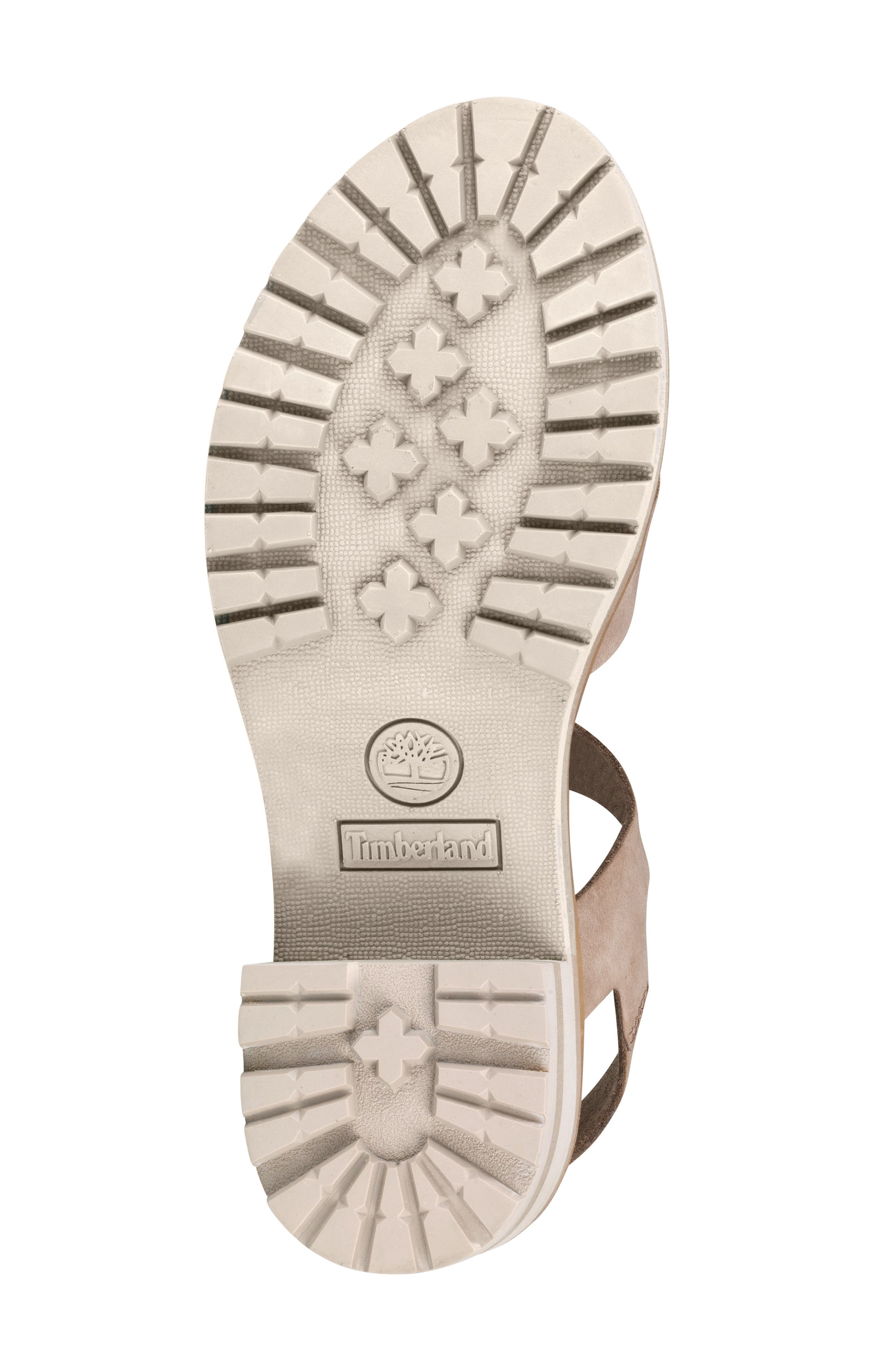 TIMBERLAND,                             Violet March Crisscross Sandal,                             Alternate thumbnail 5, color,                             TAUPE NUBUCK LEATHER