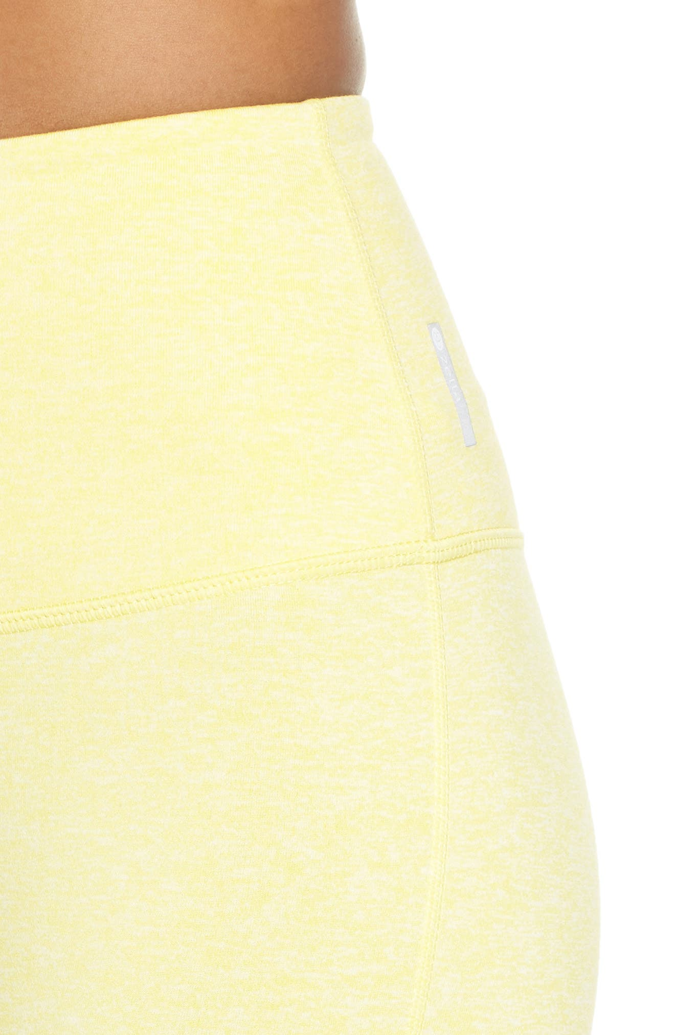 Live In High Waist Crop Recycled Leggings,                             Alternate thumbnail 4, color,                             YELLOW GLOW