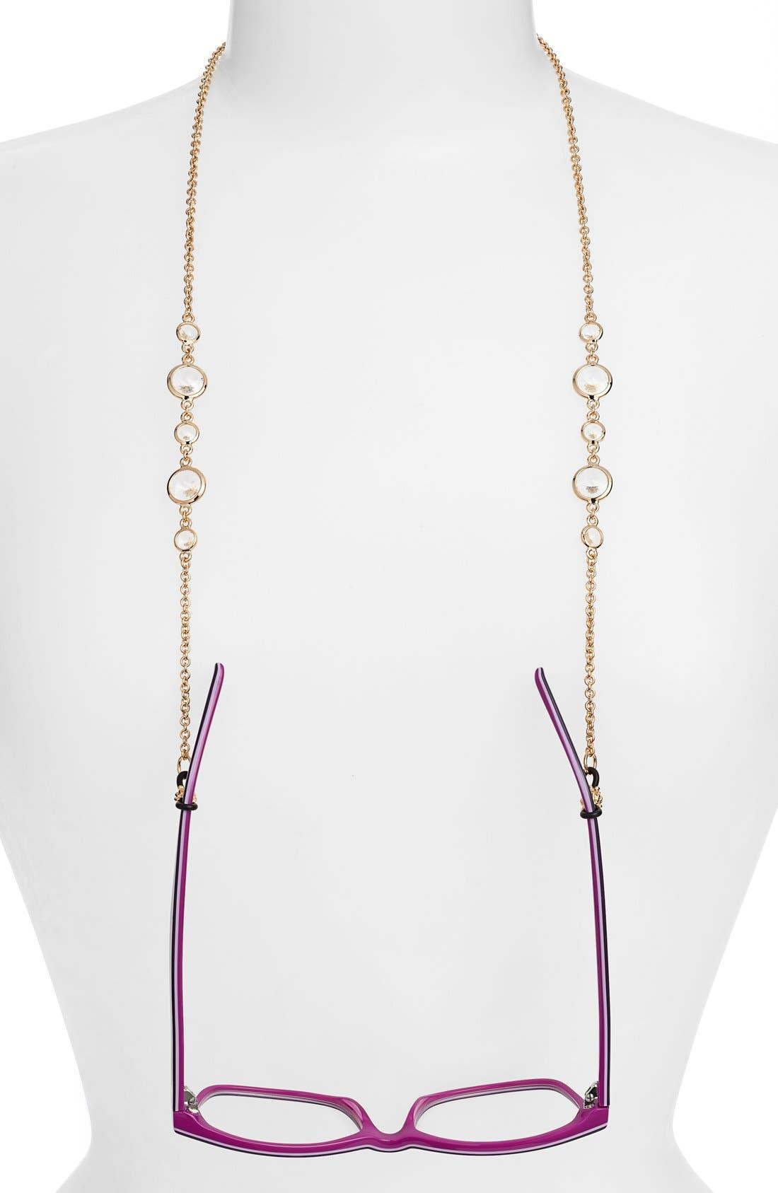 'Daphanie' Eyeglass Chain,                         Main,                         color, CRYSTAL/ GOLD