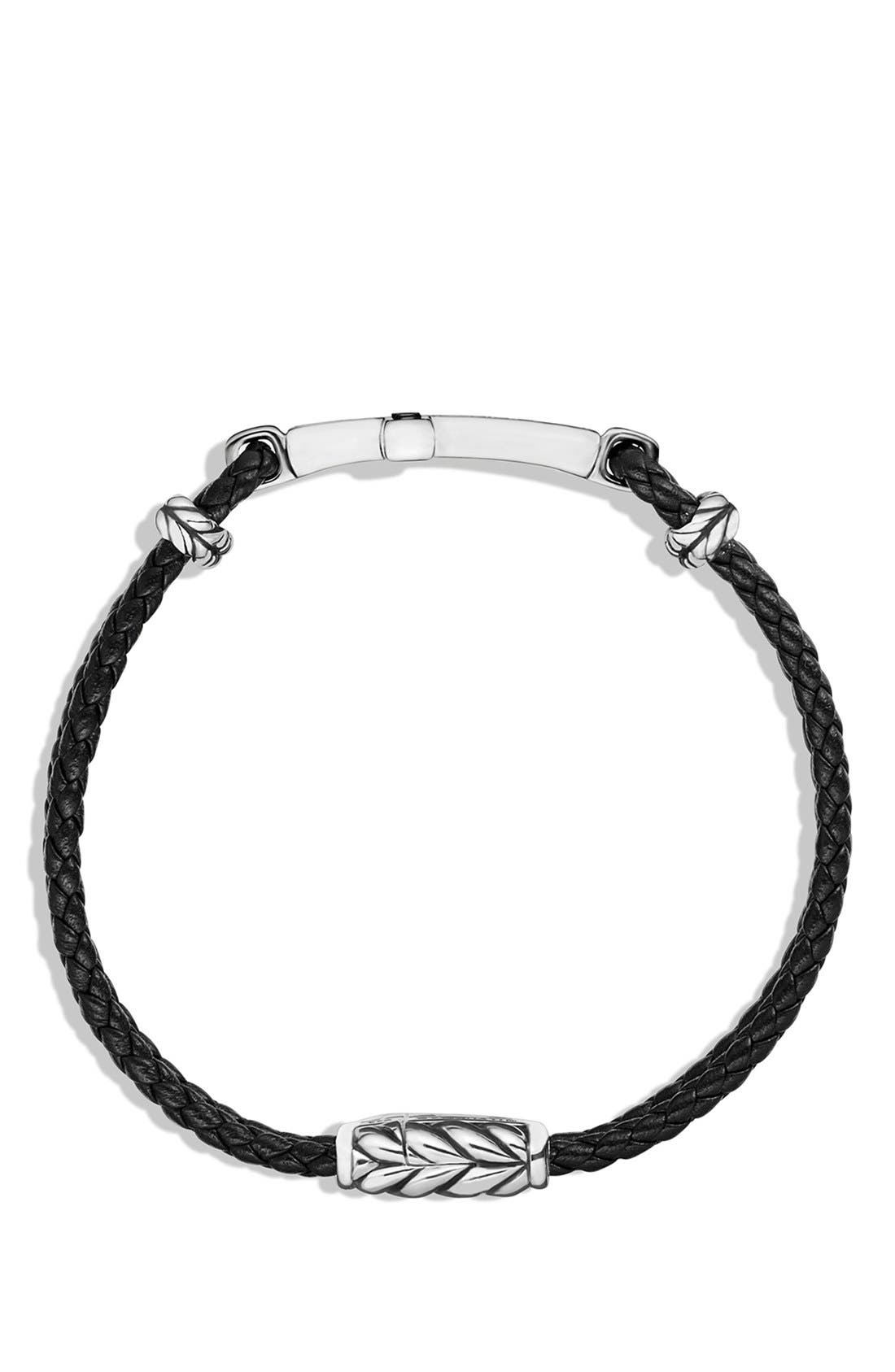 Pavé Cross Bracelet with Black Diamonds,                             Alternate thumbnail 3, color,                             BLACK DIAMOND
