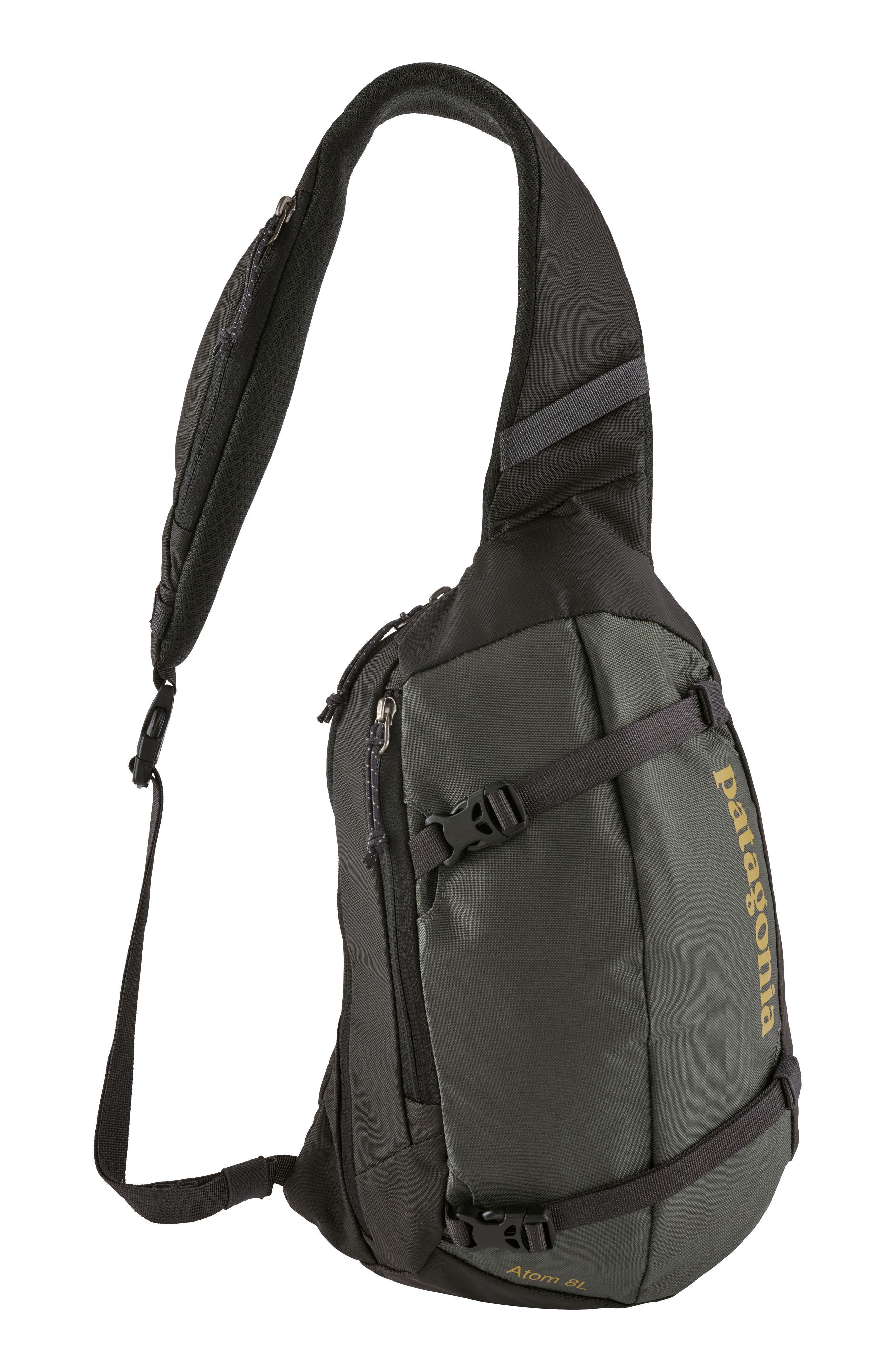 Atom 8L Sling Backpack,                         Main,                         color, FORT FORGE GREY W/ GREEN