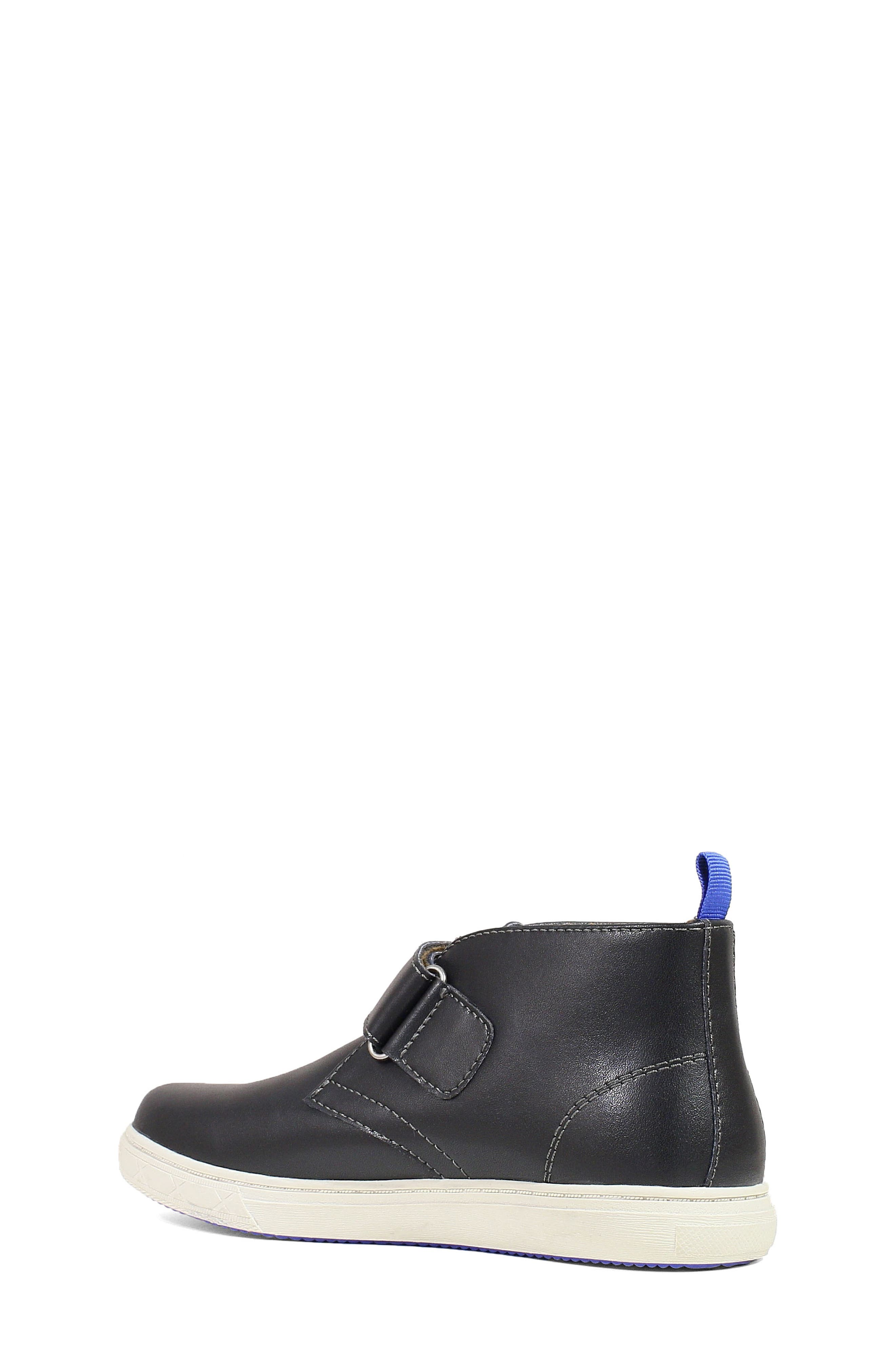 Curb Chukka Boot,                             Alternate thumbnail 2, color,                             BLACK LEATHER