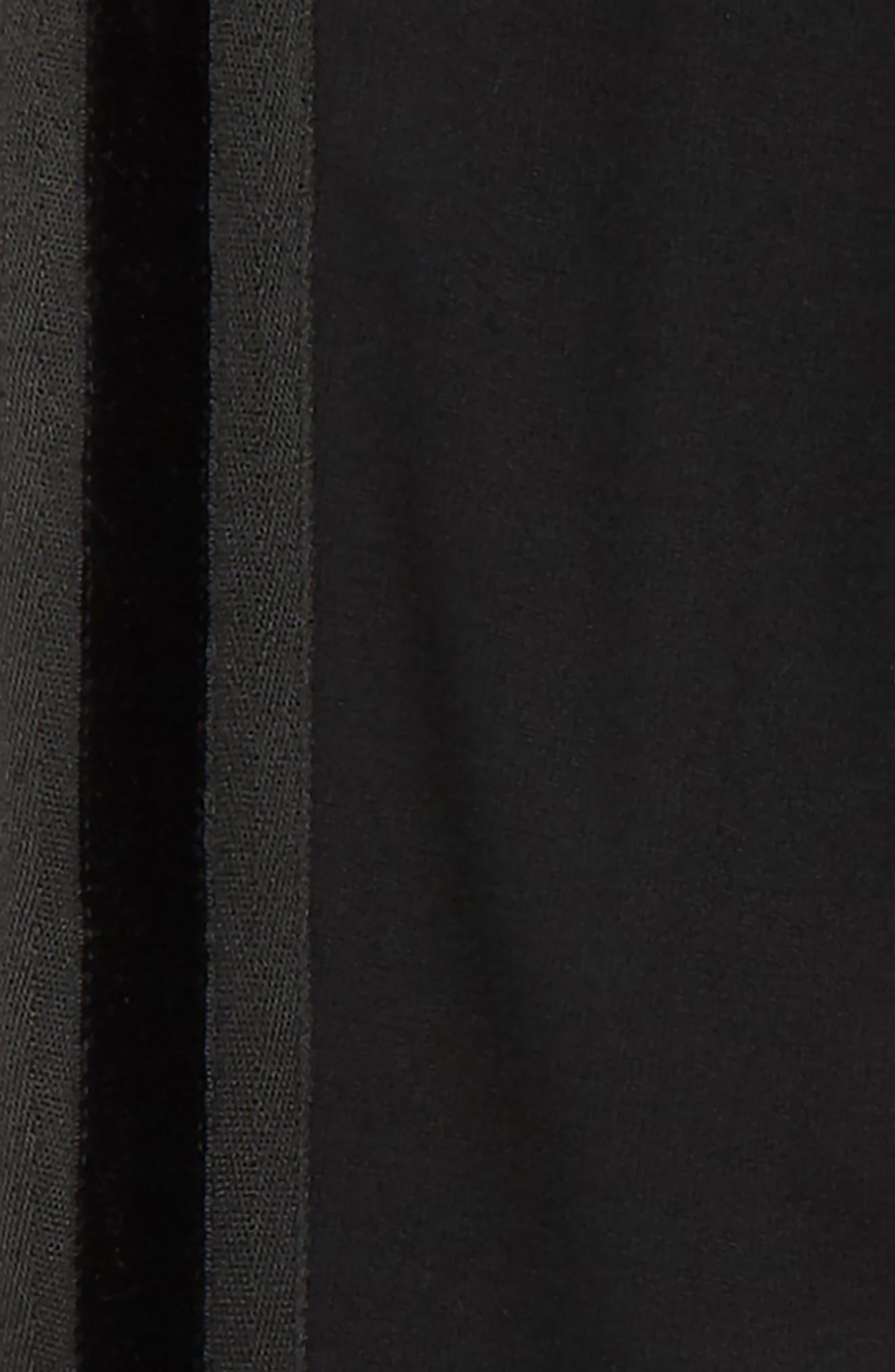 Velvet Side Stripe Joggers,                             Alternate thumbnail 2, color,                             001