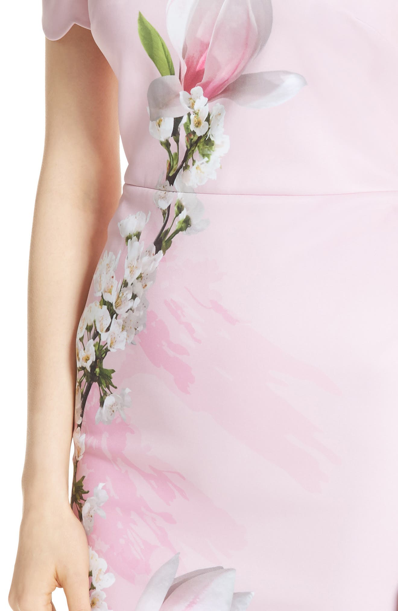 Olyva Harmony Body-Con Dress,                             Alternate thumbnail 4, color,                             PALE PINK
