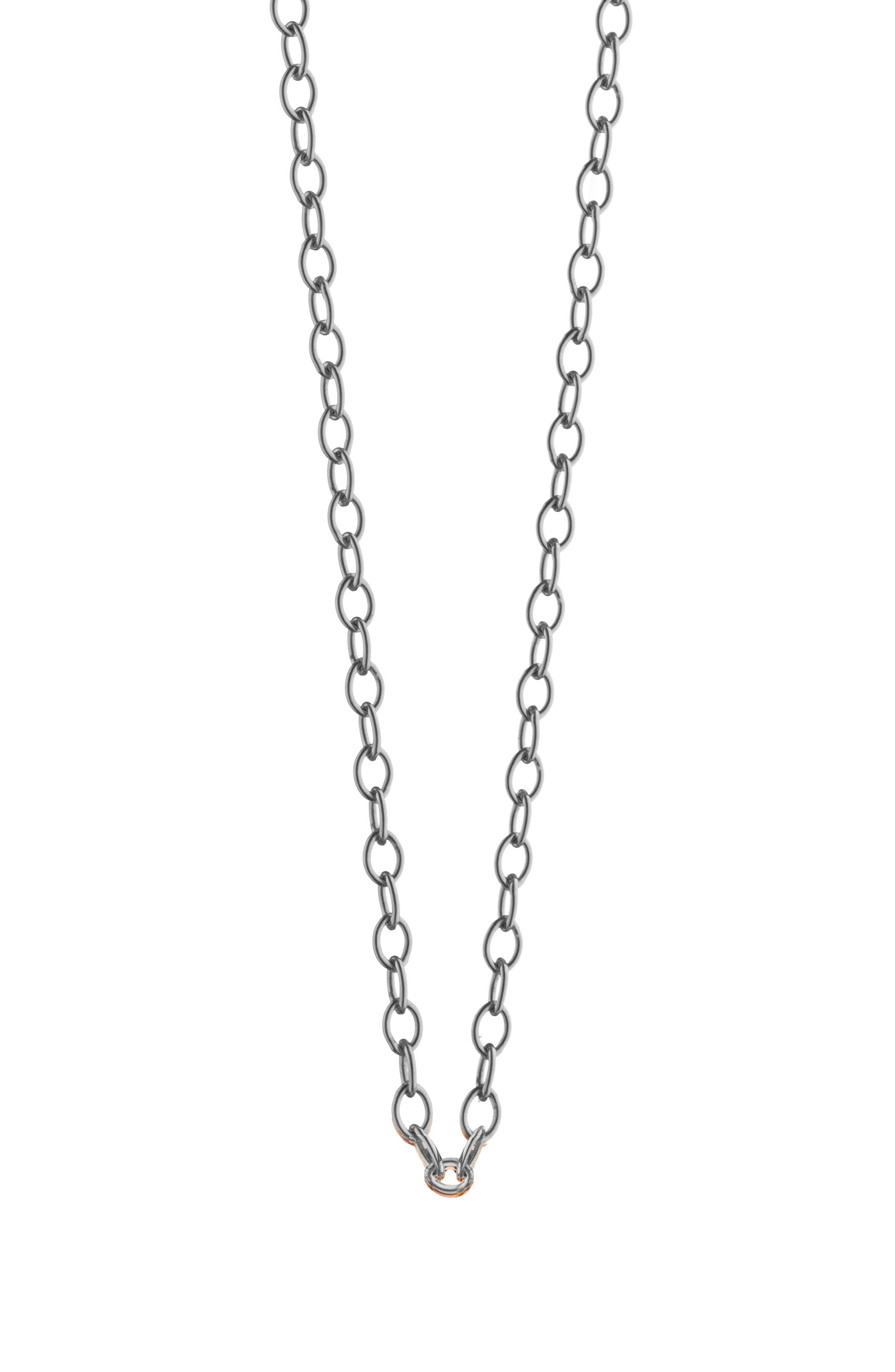 Oval Link 18K Gold Chain,                             Main thumbnail 1, color,                             18K WHITE GOLD
