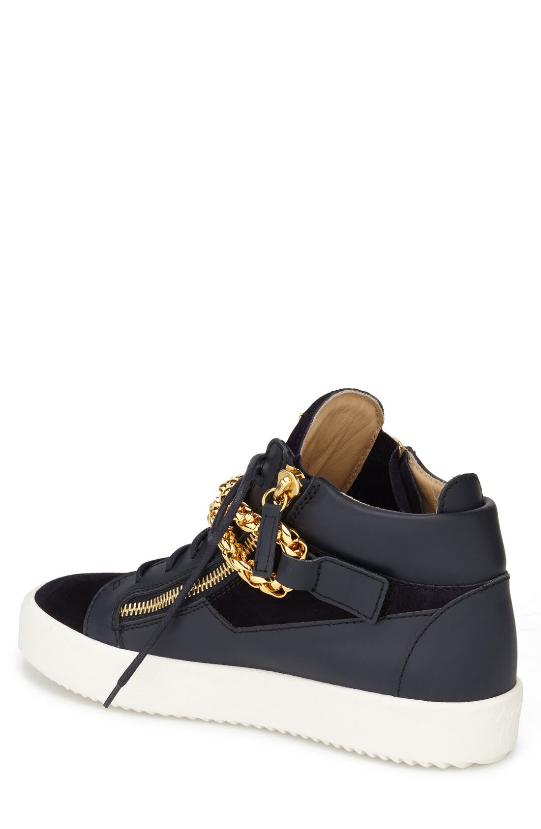 Chain Mid Top Sneaker,                             Alternate thumbnail 2, color,                             410