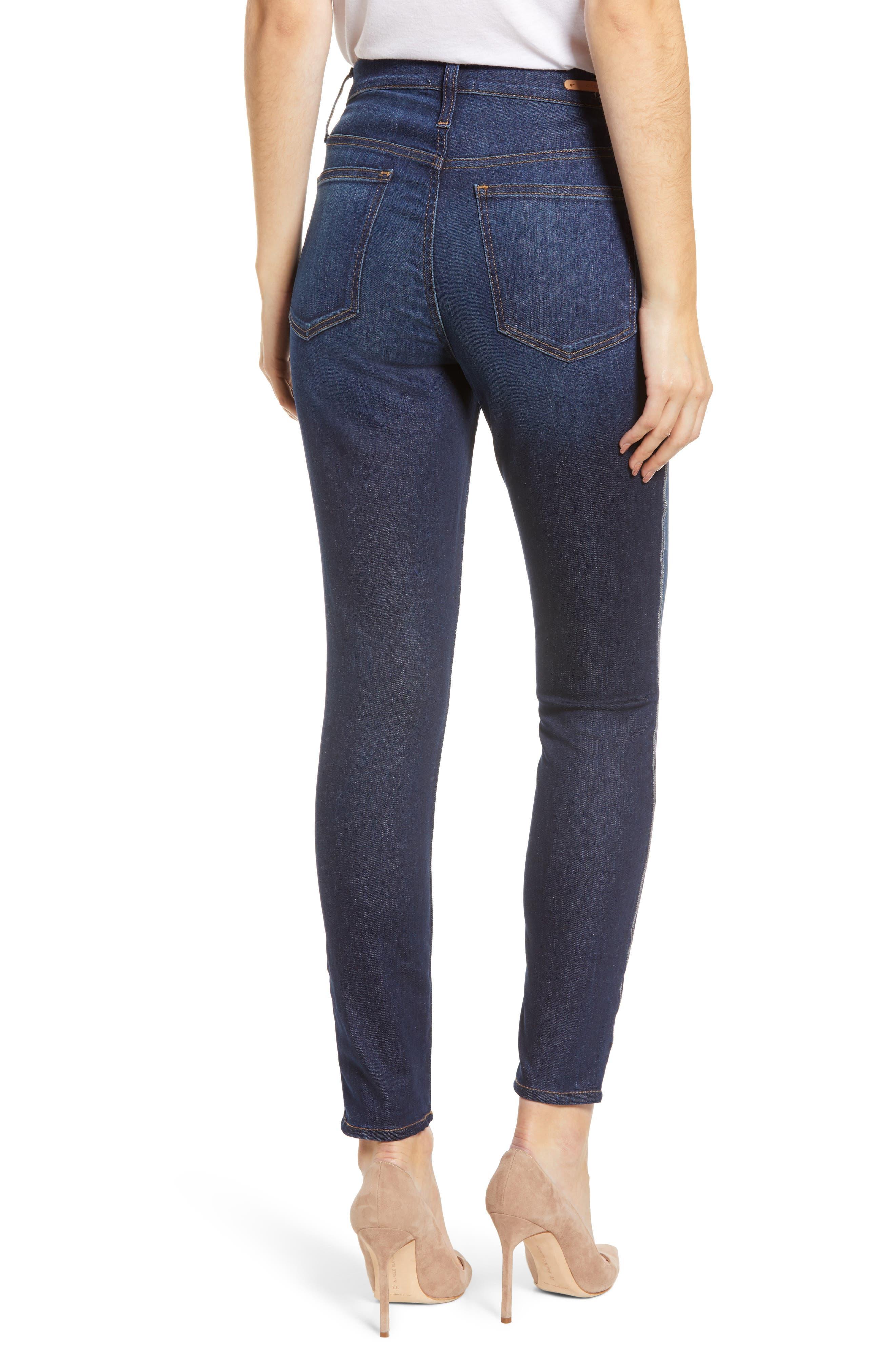 Sierra High Waist Ankle Skinny Jeans,                             Alternate thumbnail 2, color,                             FRANCIS