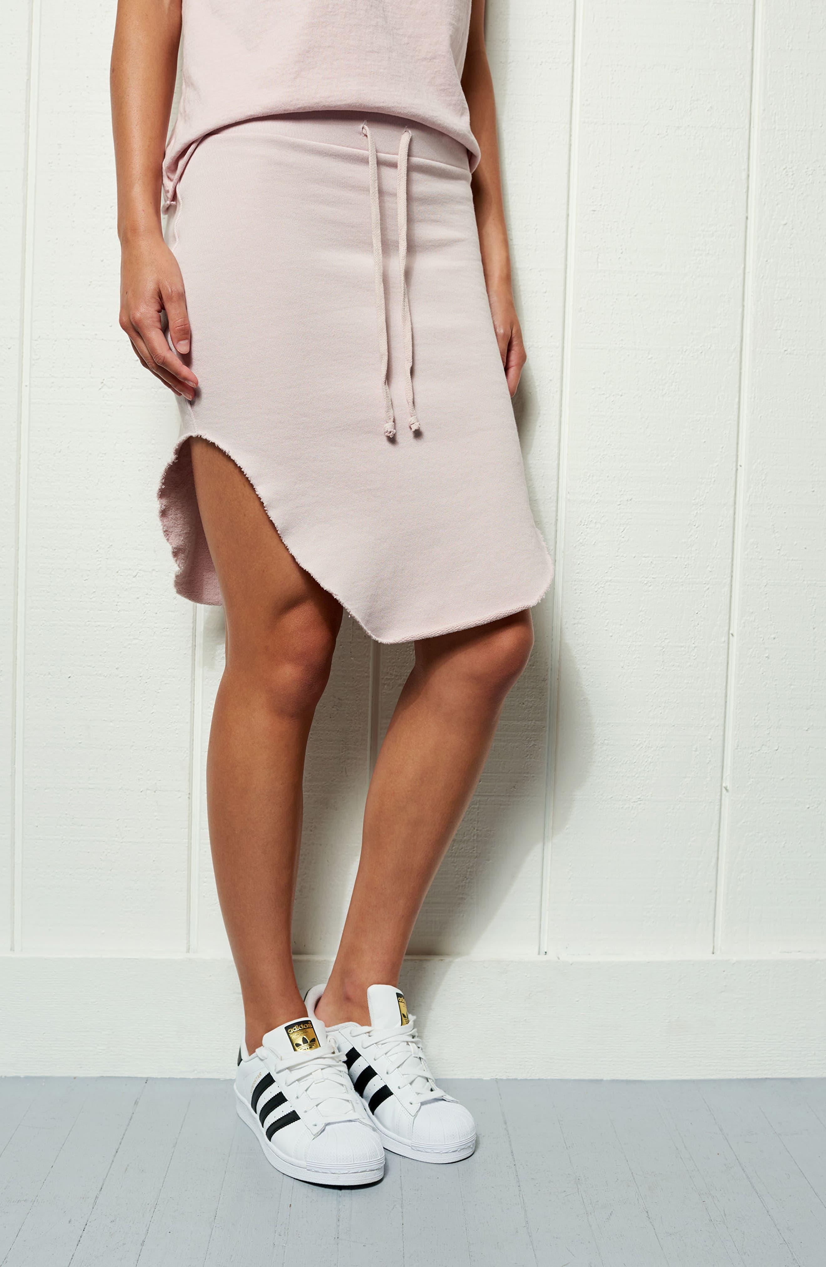 Tee Lab Short Fleece Skirt,                             Alternate thumbnail 8, color,