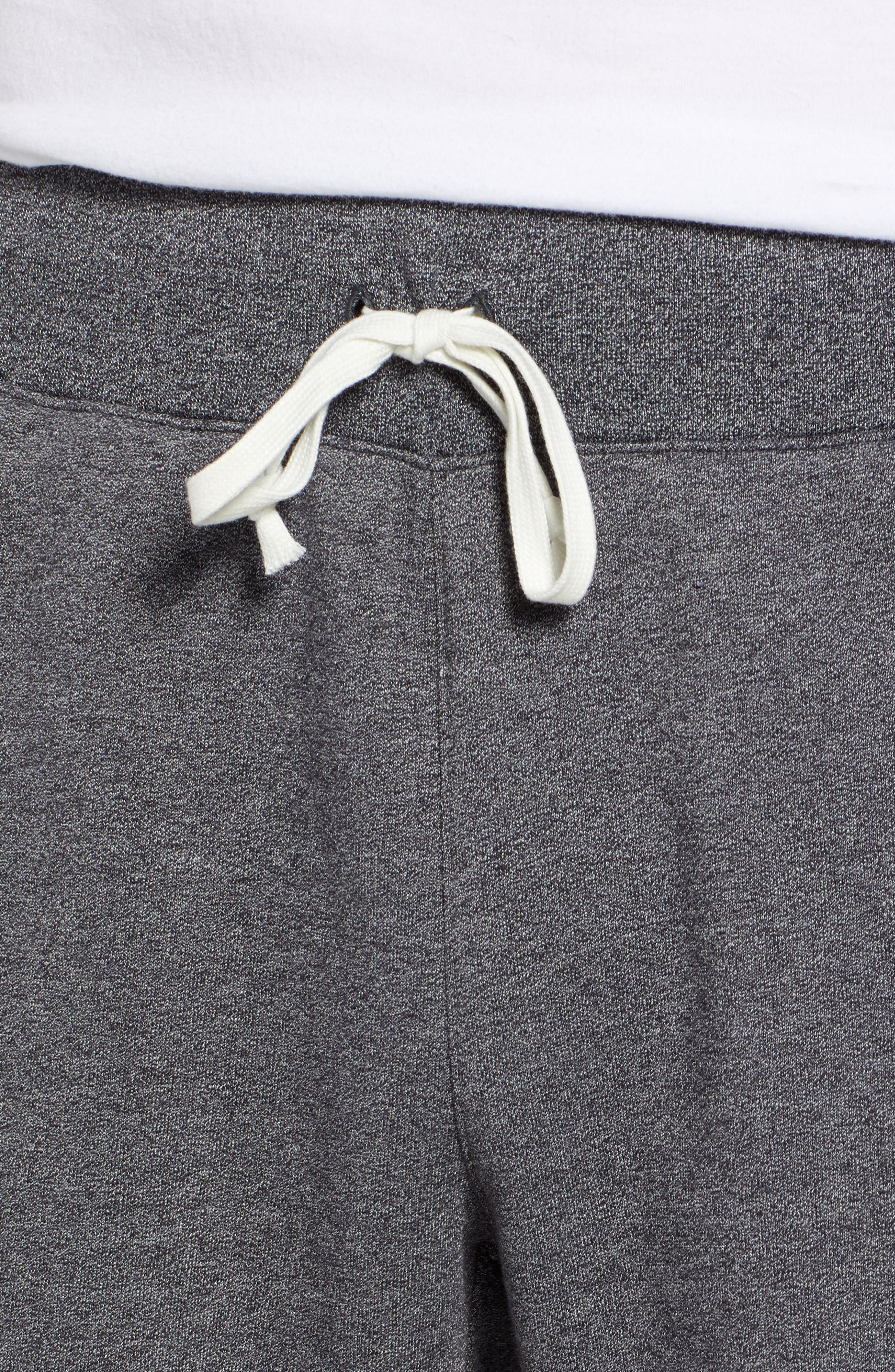Heritage Knit Shorts,                             Alternate thumbnail 4, color,                             BLACK/ HEATHER/ SAIL