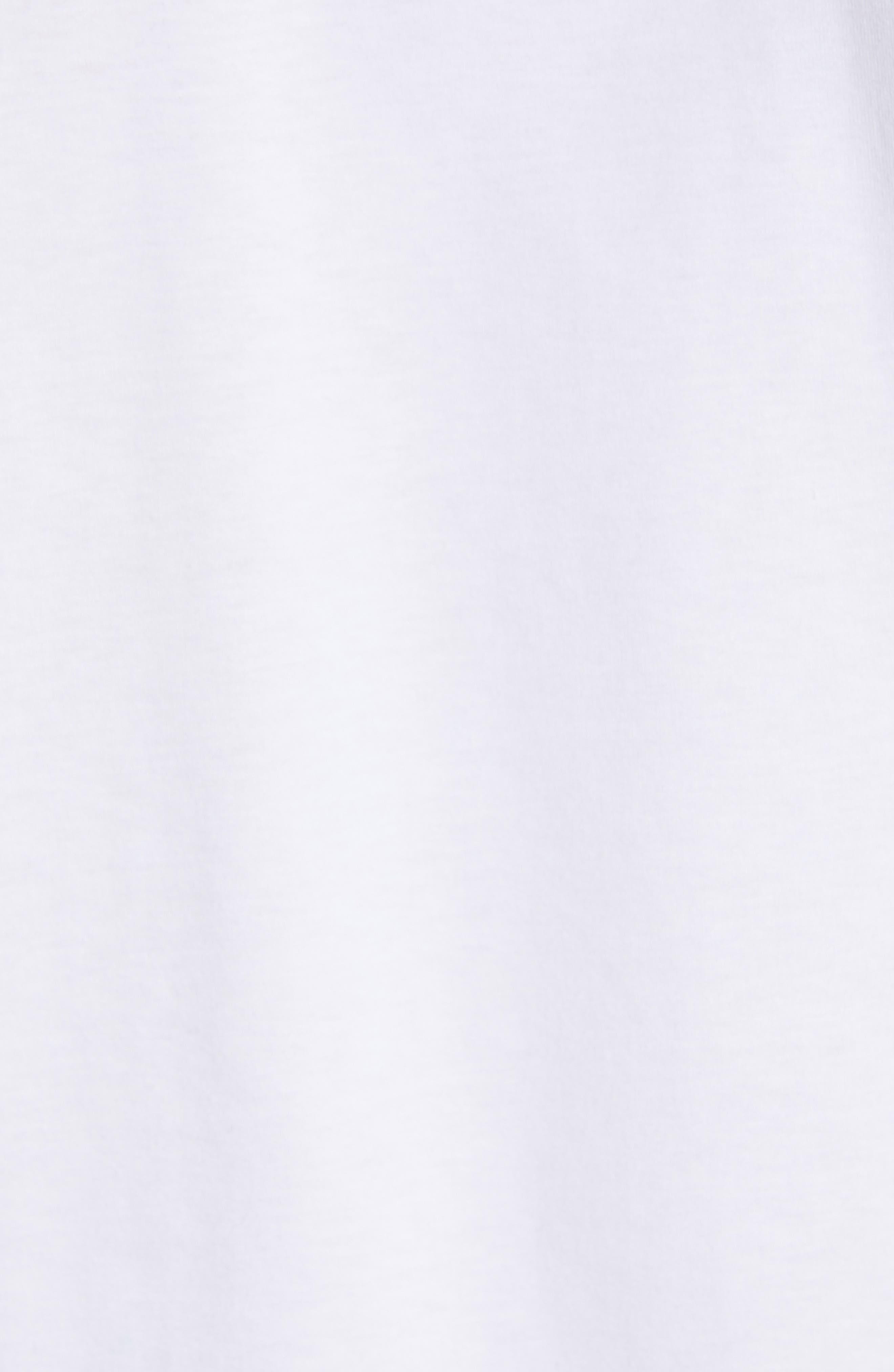 Niels Crewneck T-Shirt,                             Alternate thumbnail 5, color,                             WHITE