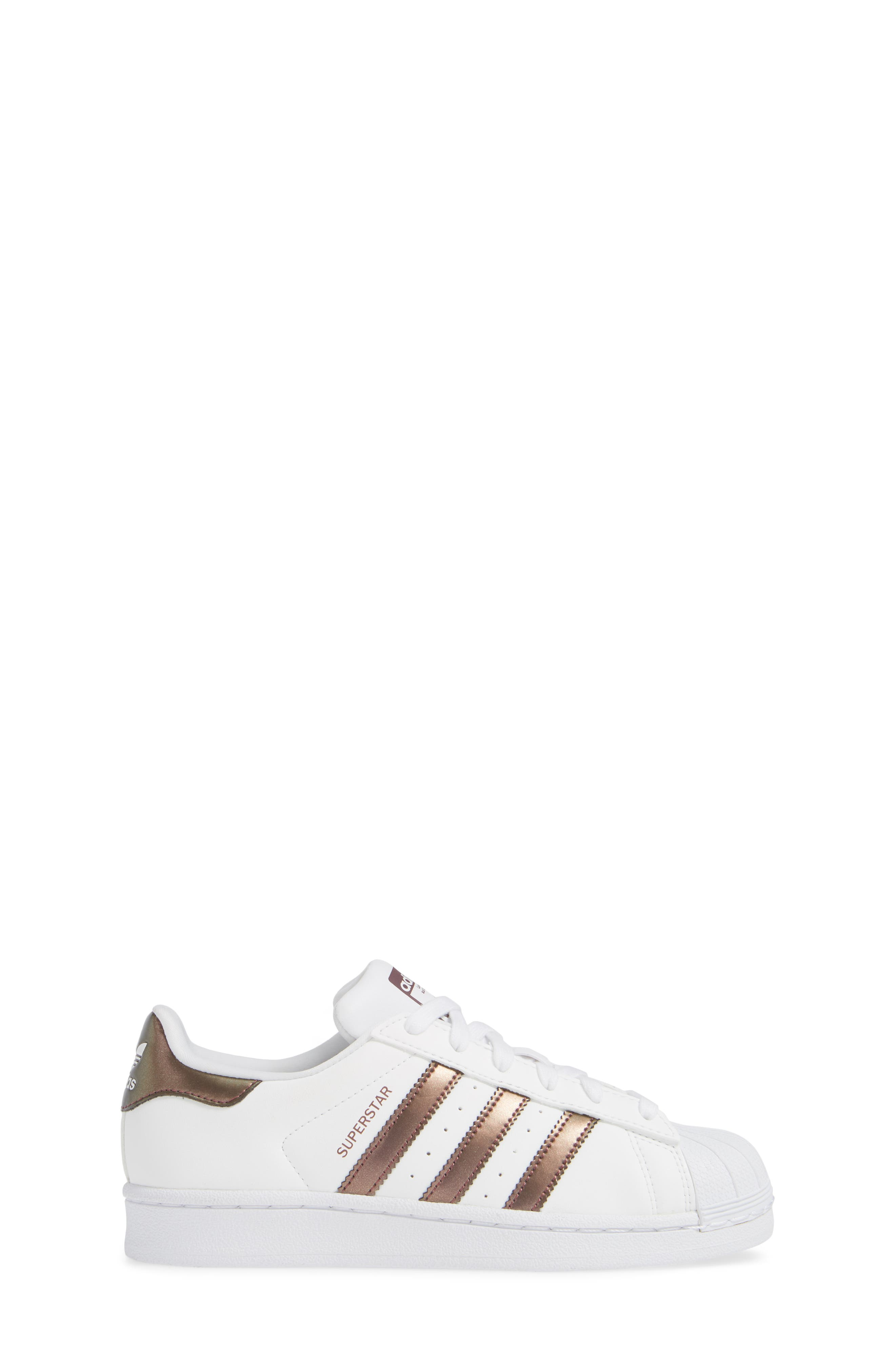 'Superstar II' Sneaker,                             Alternate thumbnail 3, color,                             FOOTWEAR WHITE/COPPER
