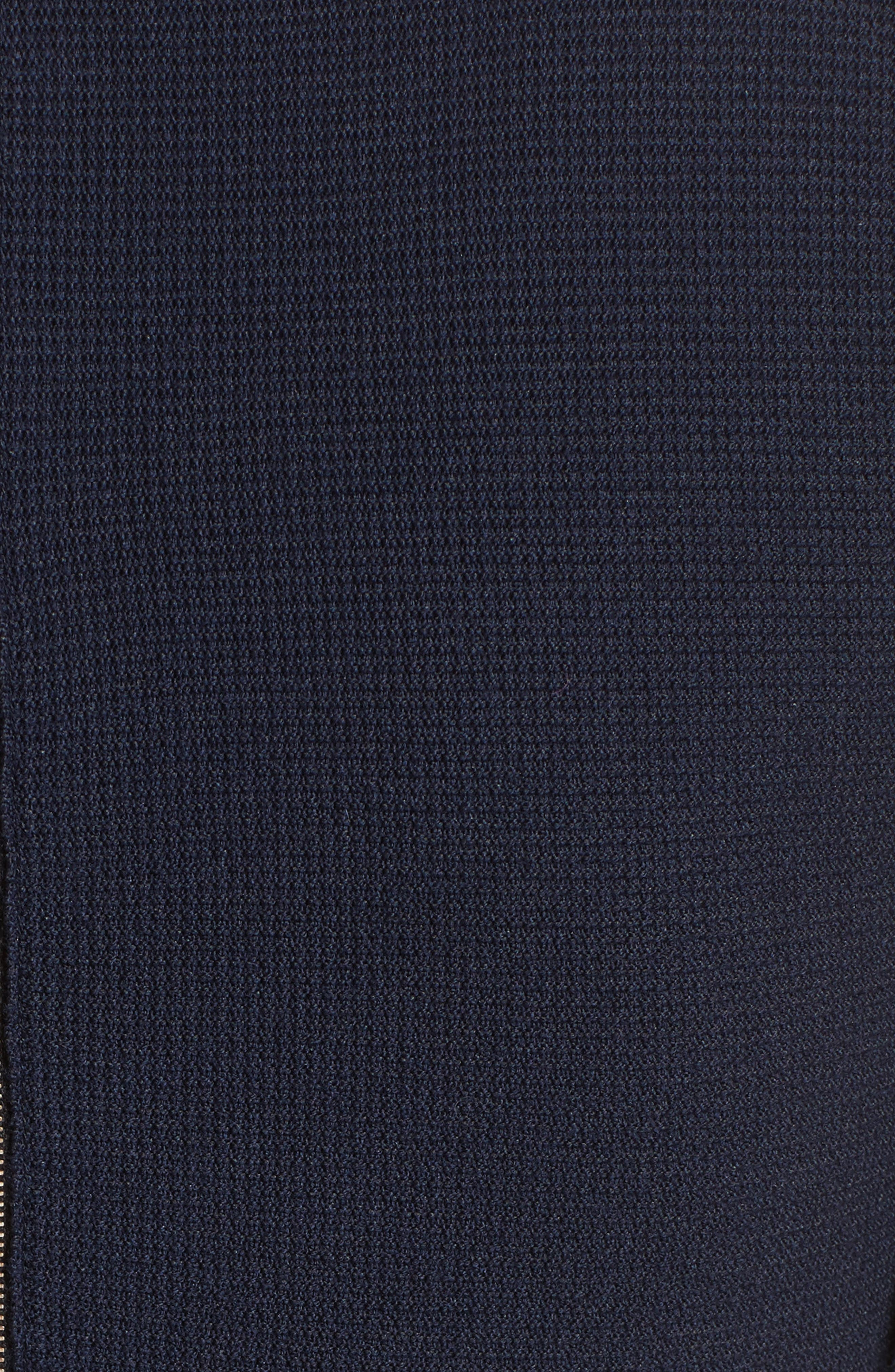 Wool Blend Knit Scallop Dress,                             Alternate thumbnail 5, color,                             400