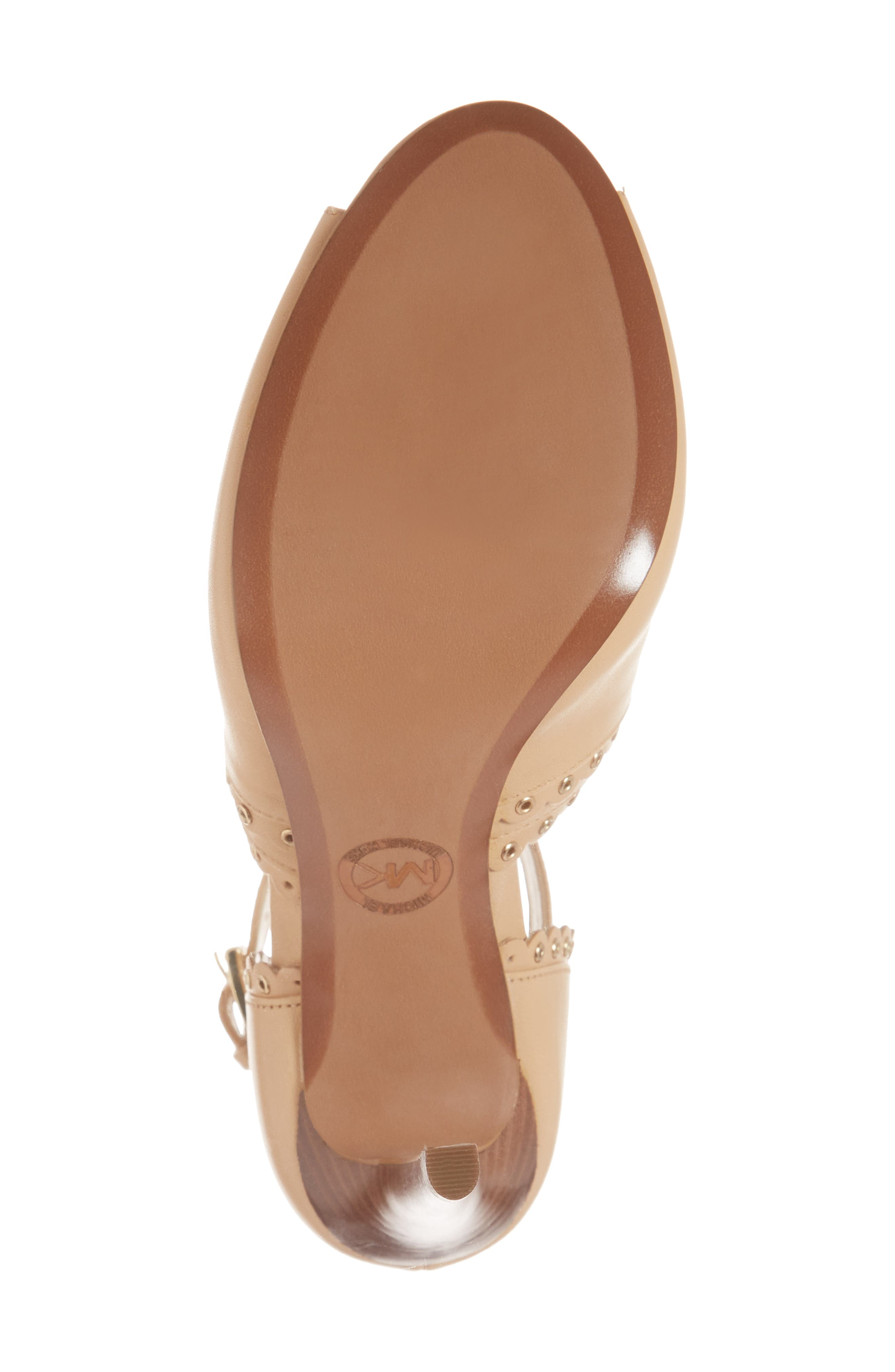 Jessie Ankle Strap Sandal,                             Alternate thumbnail 6, color,                             BUTTERNUT LEATHER