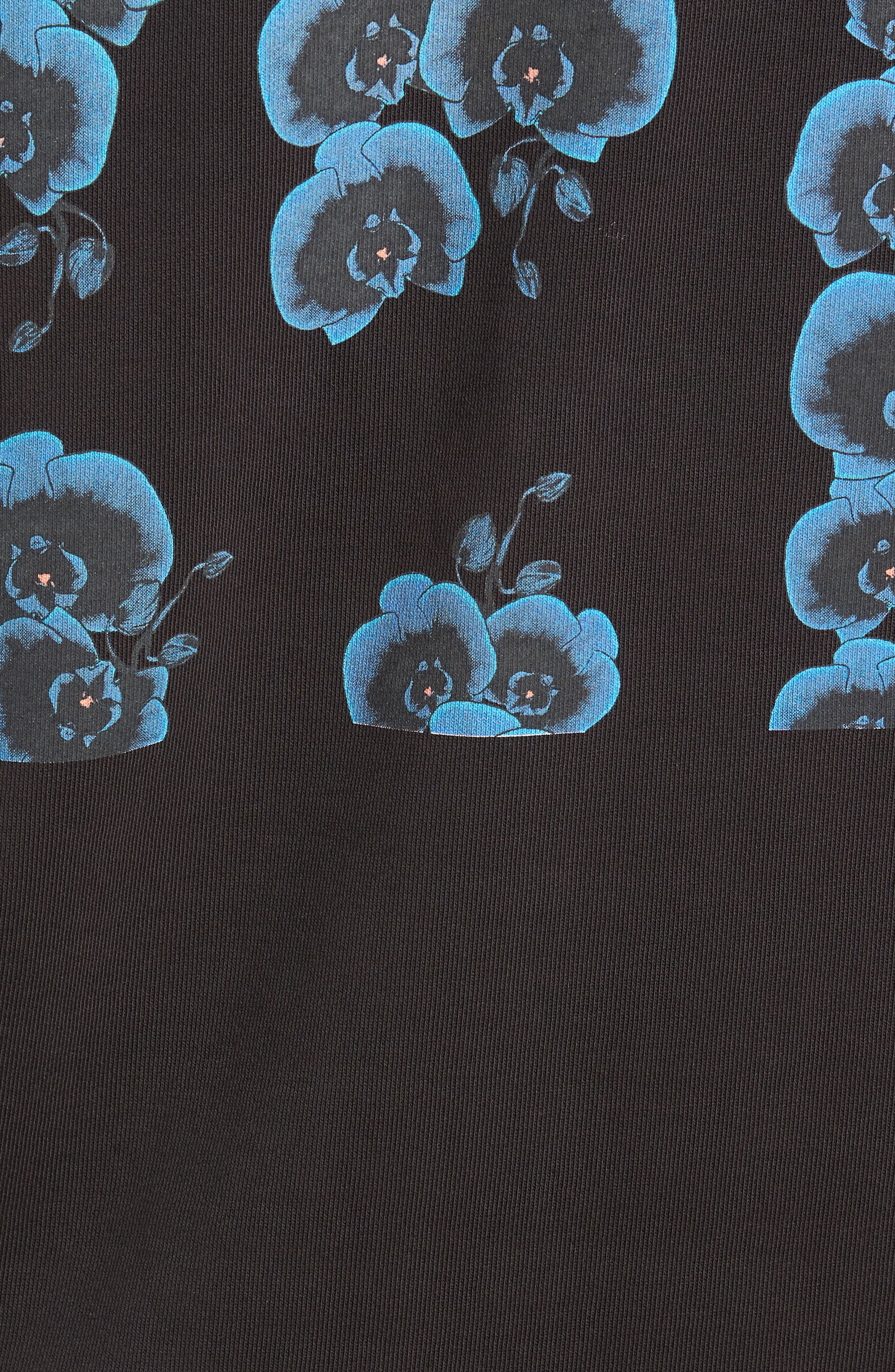 Bowery Orchid Graphic Sweatshirt,                             Alternate thumbnail 5, color,                             001