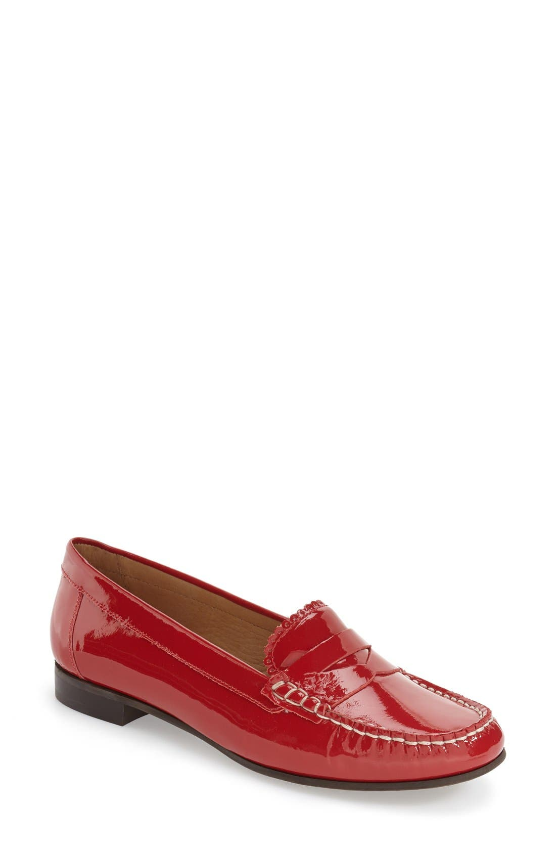 'Quinn' Leather Loafer,                             Main thumbnail 6, color,