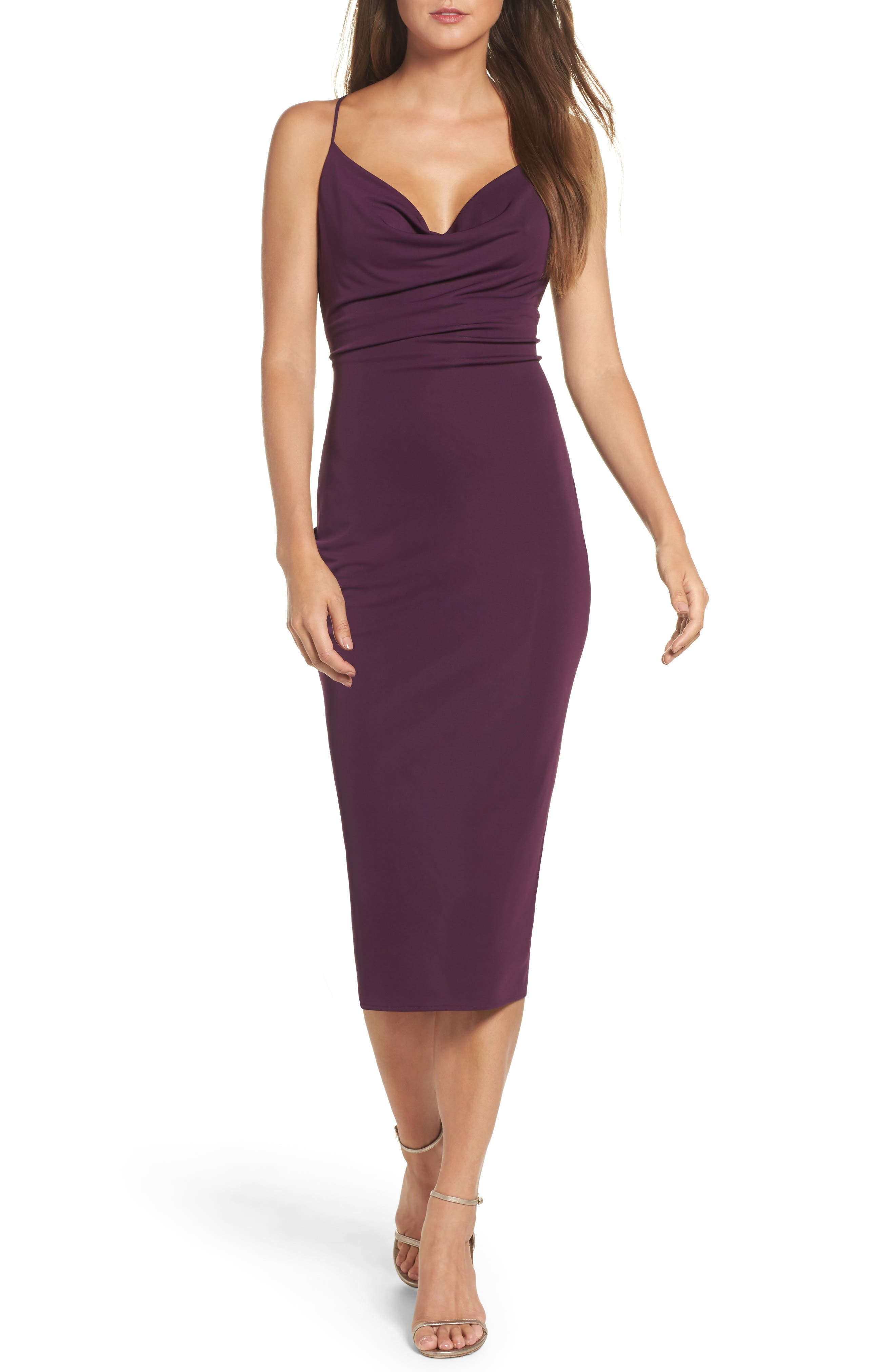 Cowl Neck Midi Dress,                             Main thumbnail 1, color,                             935