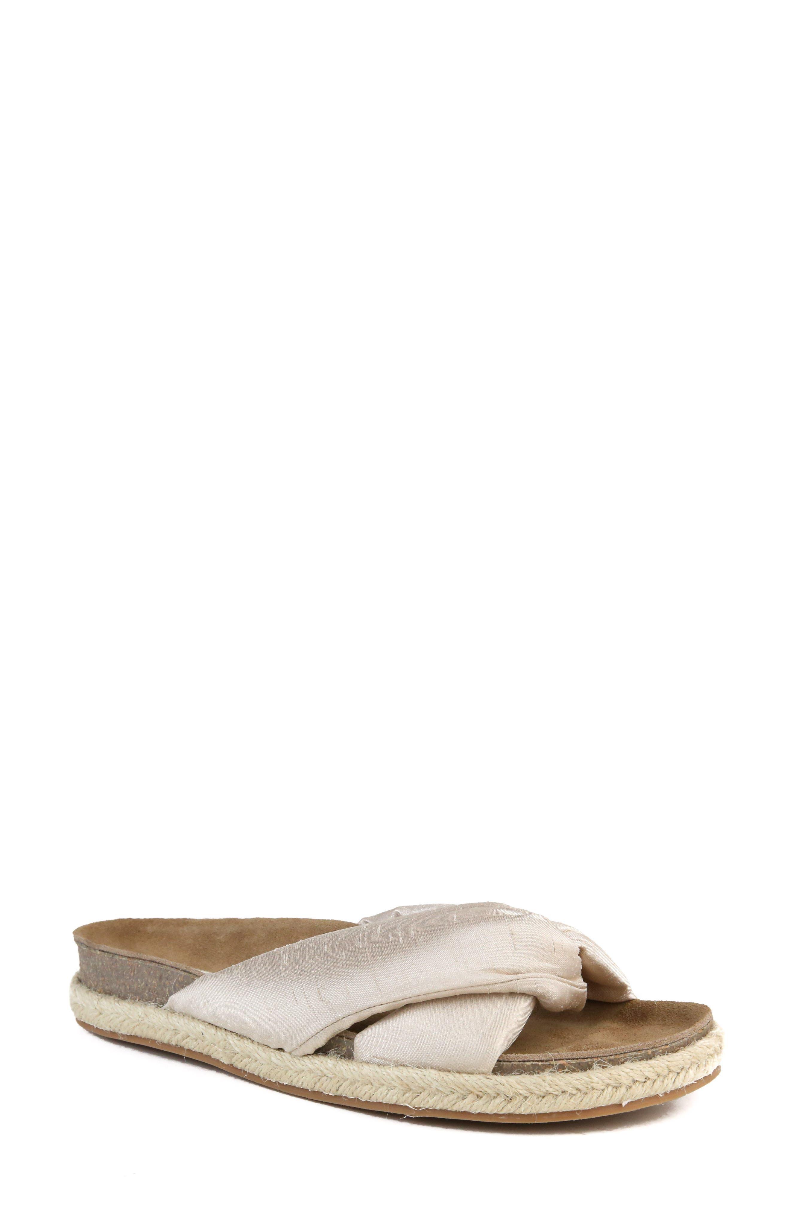 Move Over Slide Sandal,                         Main,                         color, BEIGE