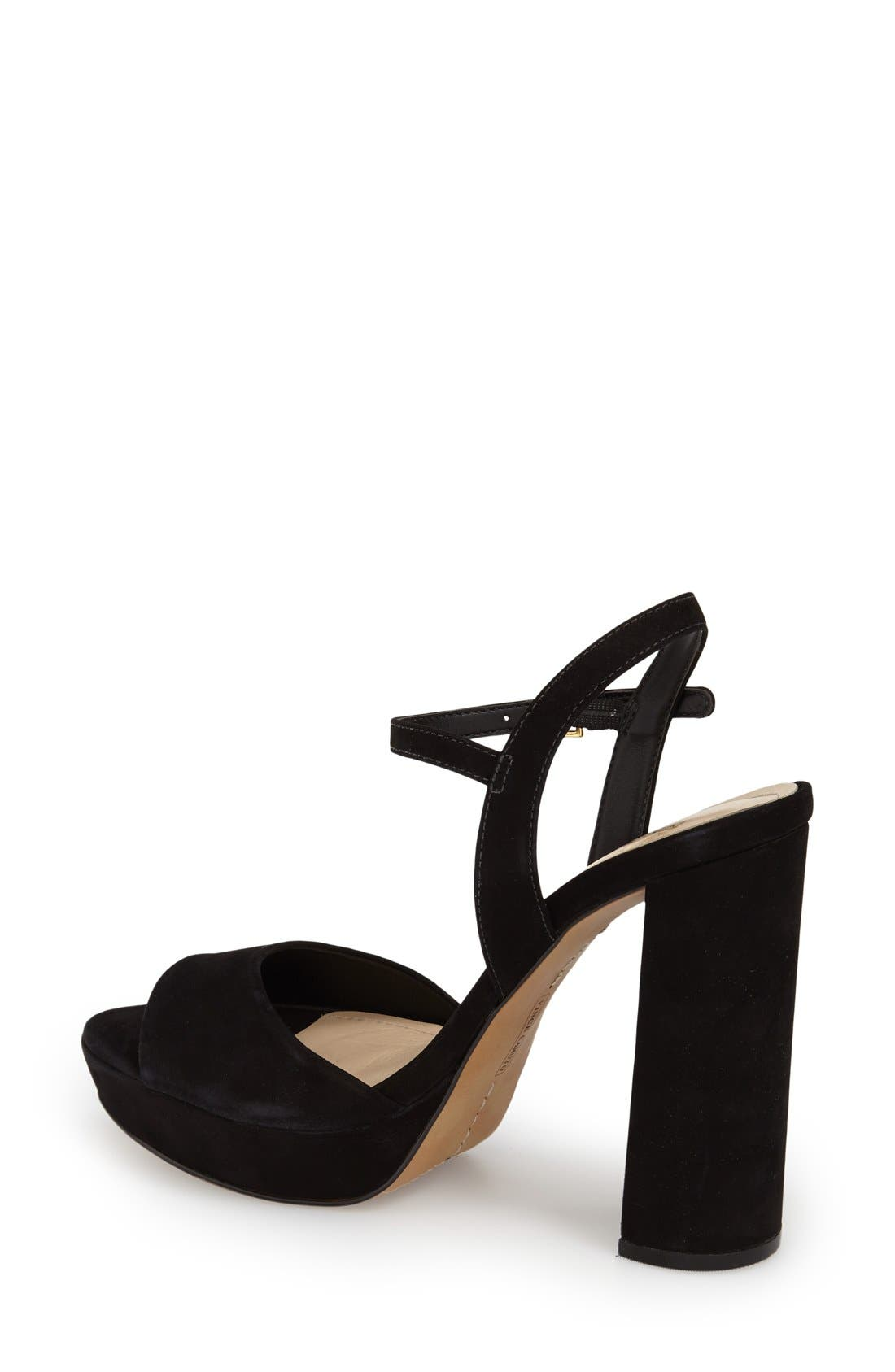 'Krysta' Platform Sandal,                             Alternate thumbnail 3, color,                             001