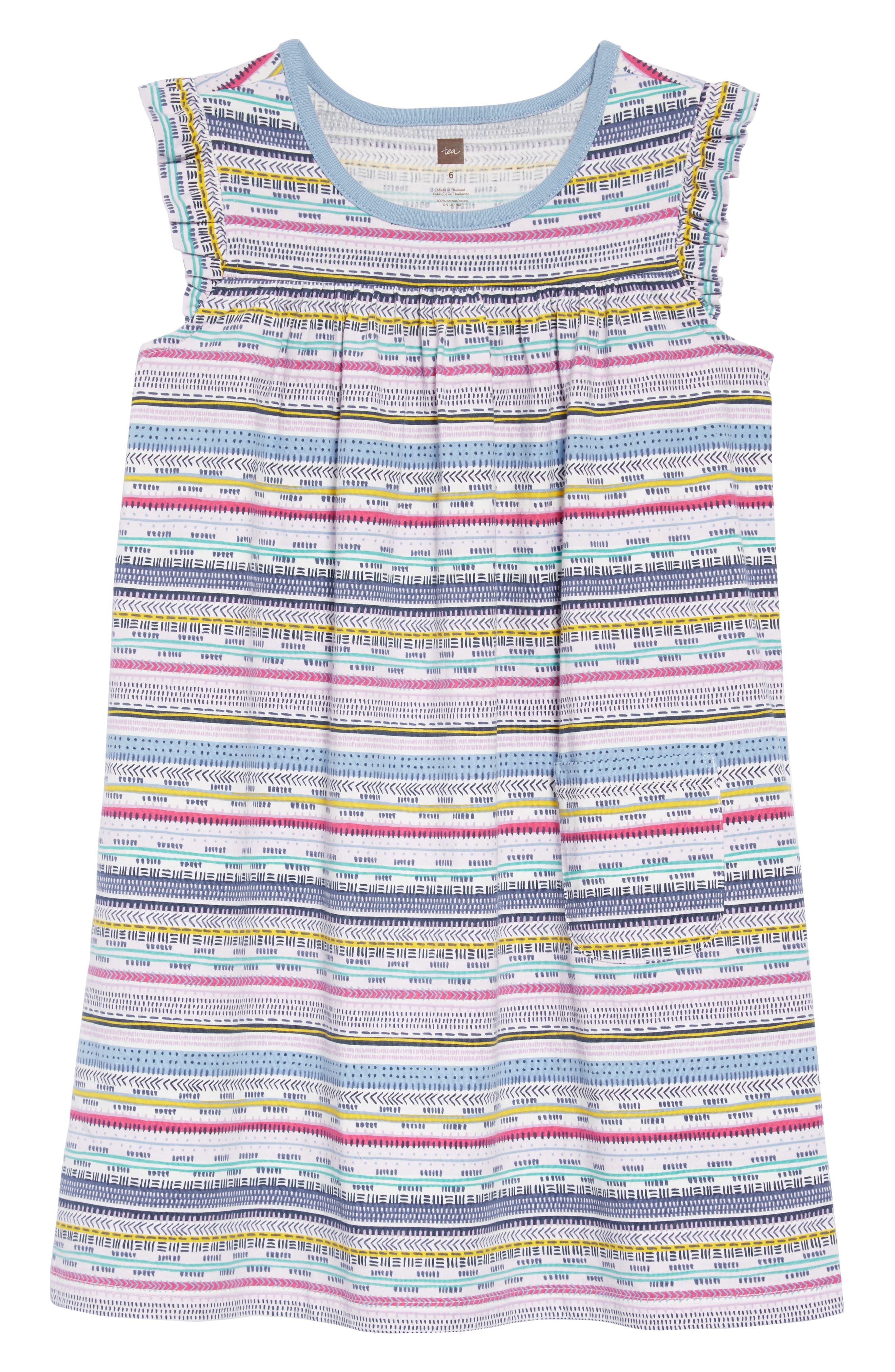 TEA COLLECTION,                             Might Mini Dress,                             Main thumbnail 1, color,                             HA TAY GEO STRIPE