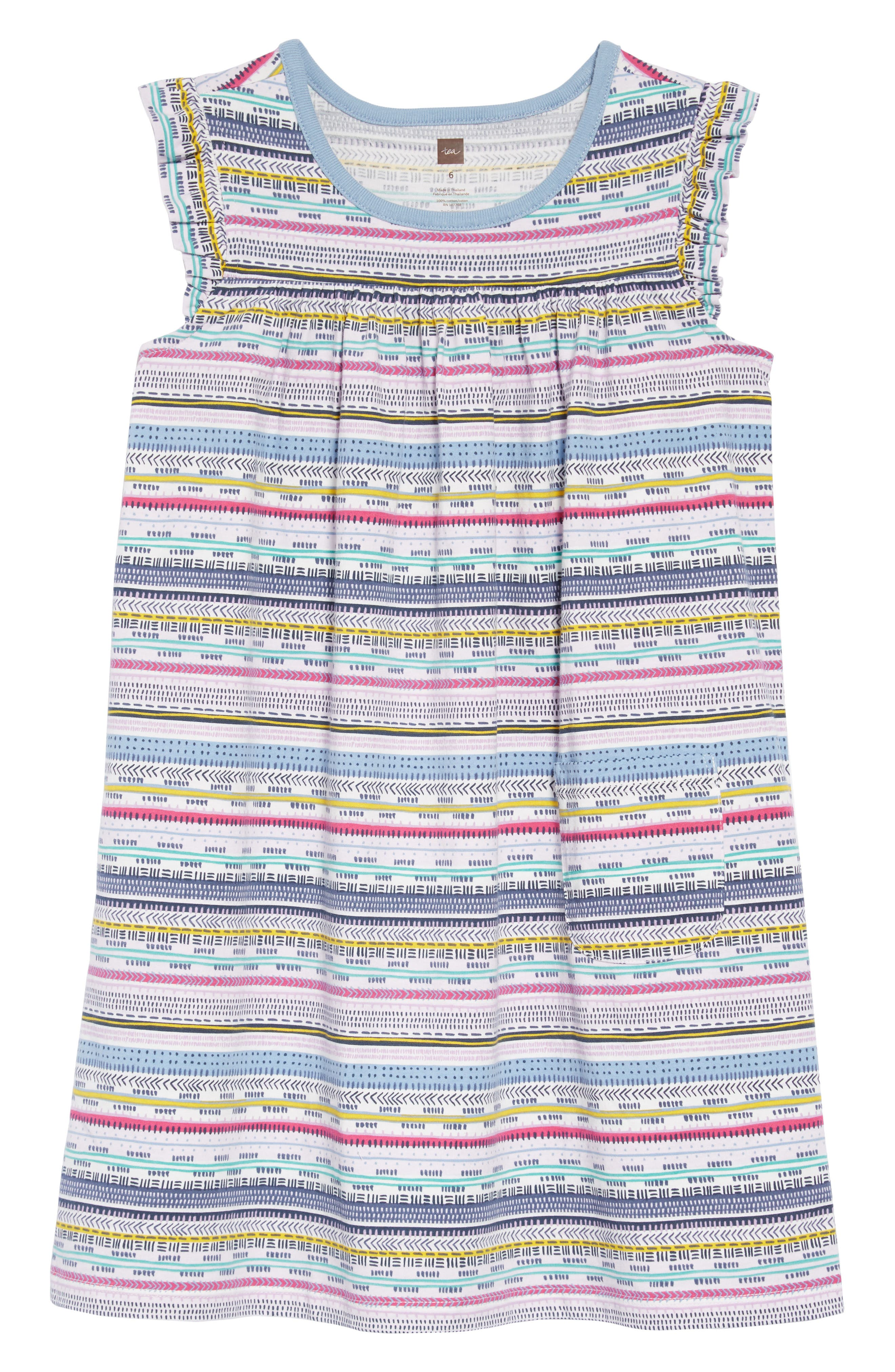 TEA COLLECTION Might Mini Dress, Main, color, HA TAY GEO STRIPE