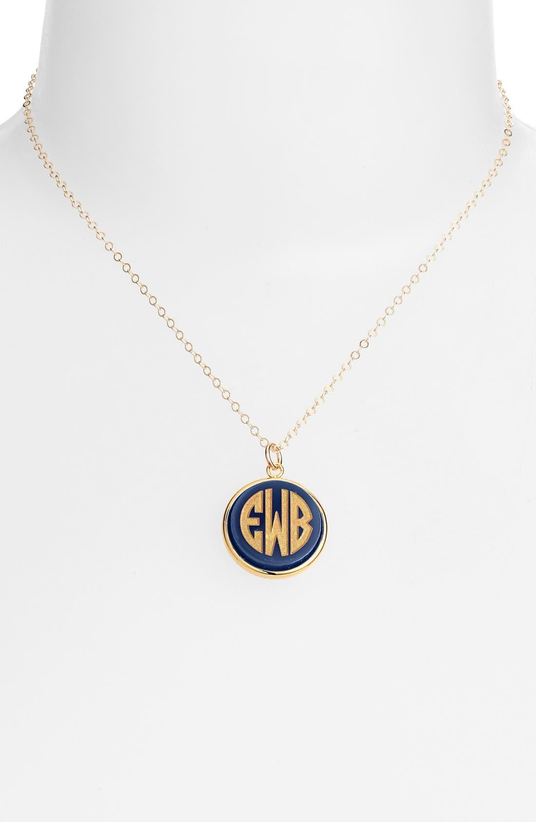 'Vineyard' Personalized Monogram Pendant Necklace,                             Main thumbnail 7, color,