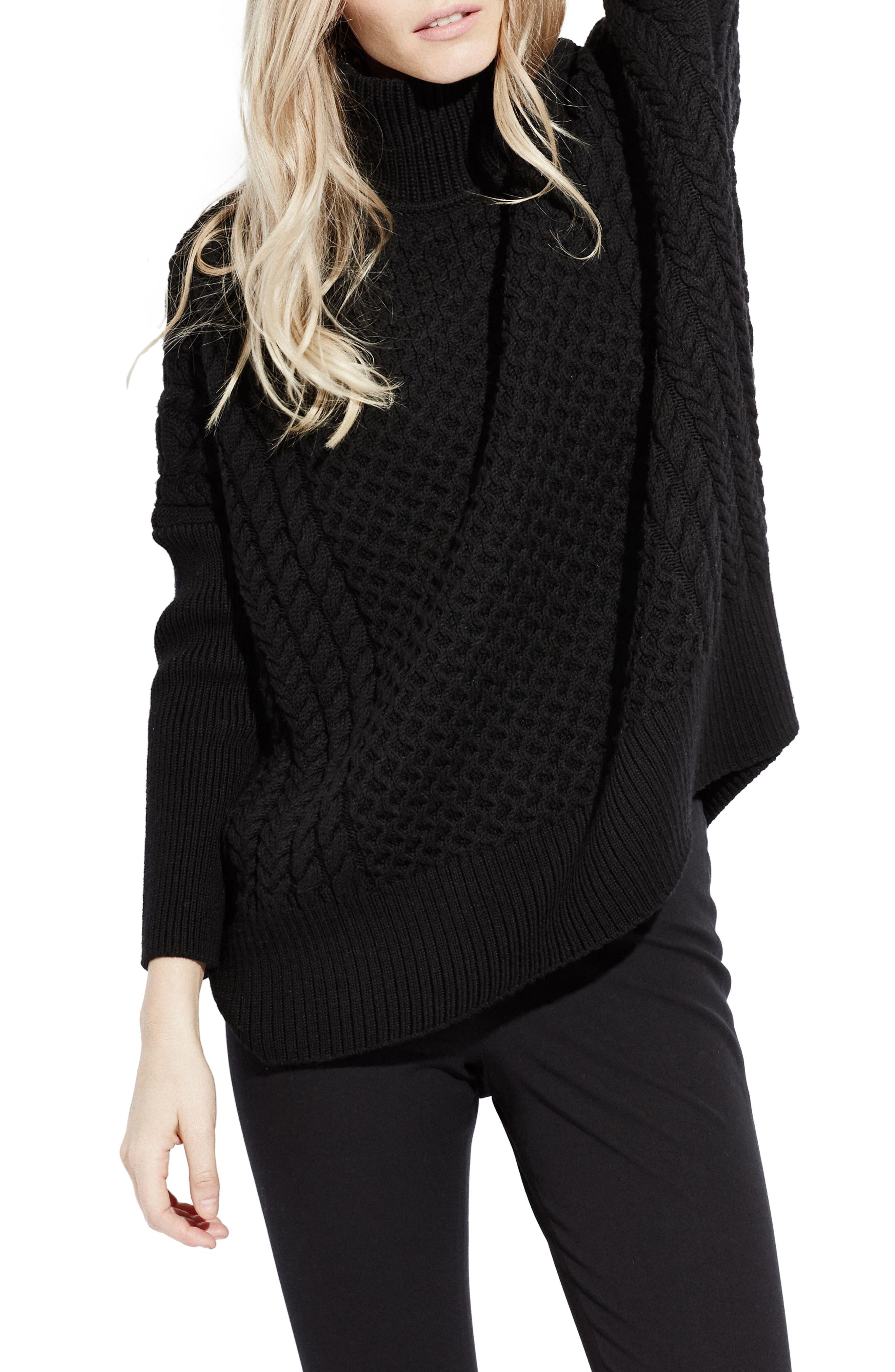 Le Square Turtleneck Sweater, Main, color, 001