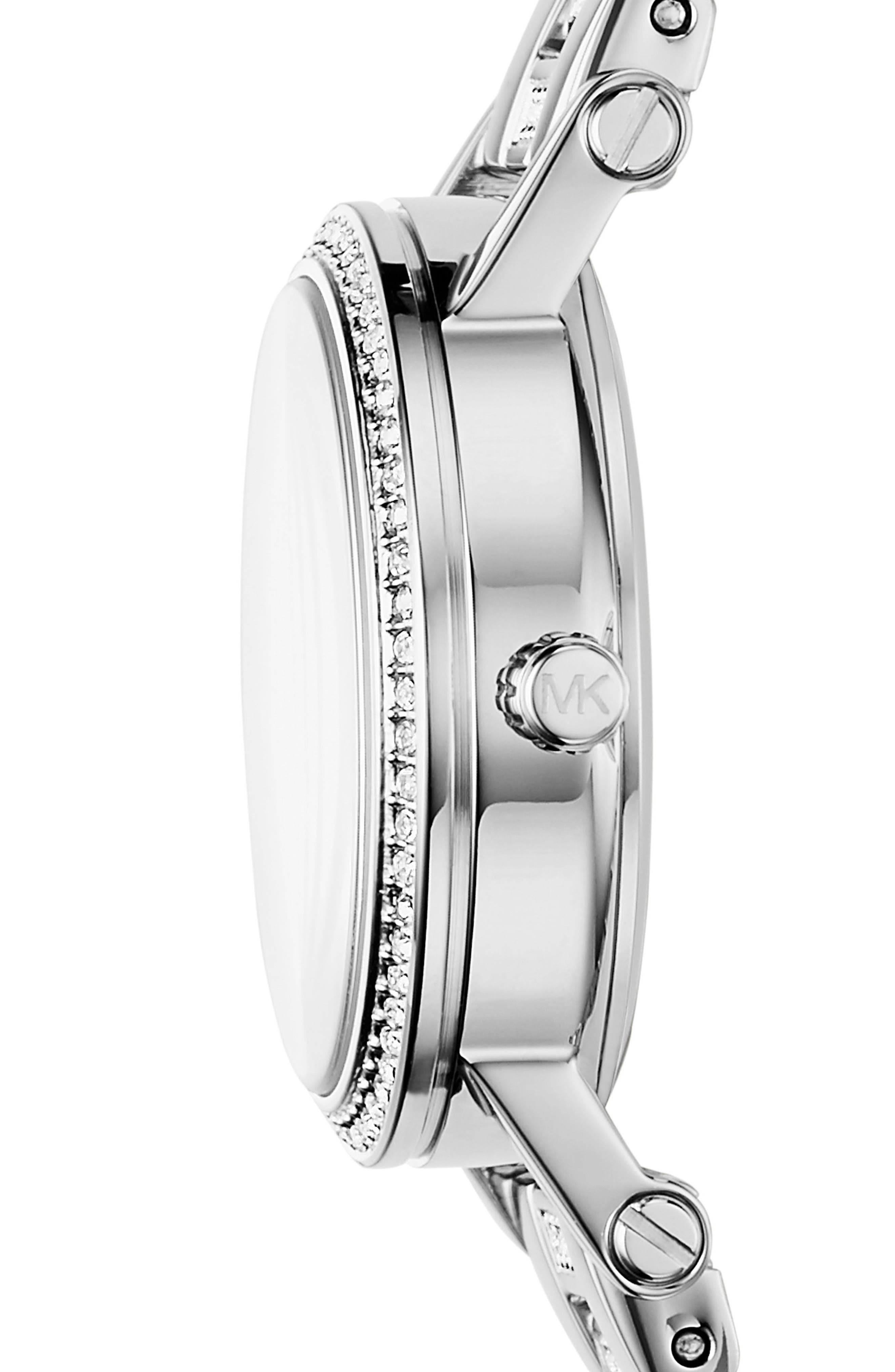 Petite Norie Pavé Bracelet Watch, 28mm,                             Alternate thumbnail 2, color,                             040