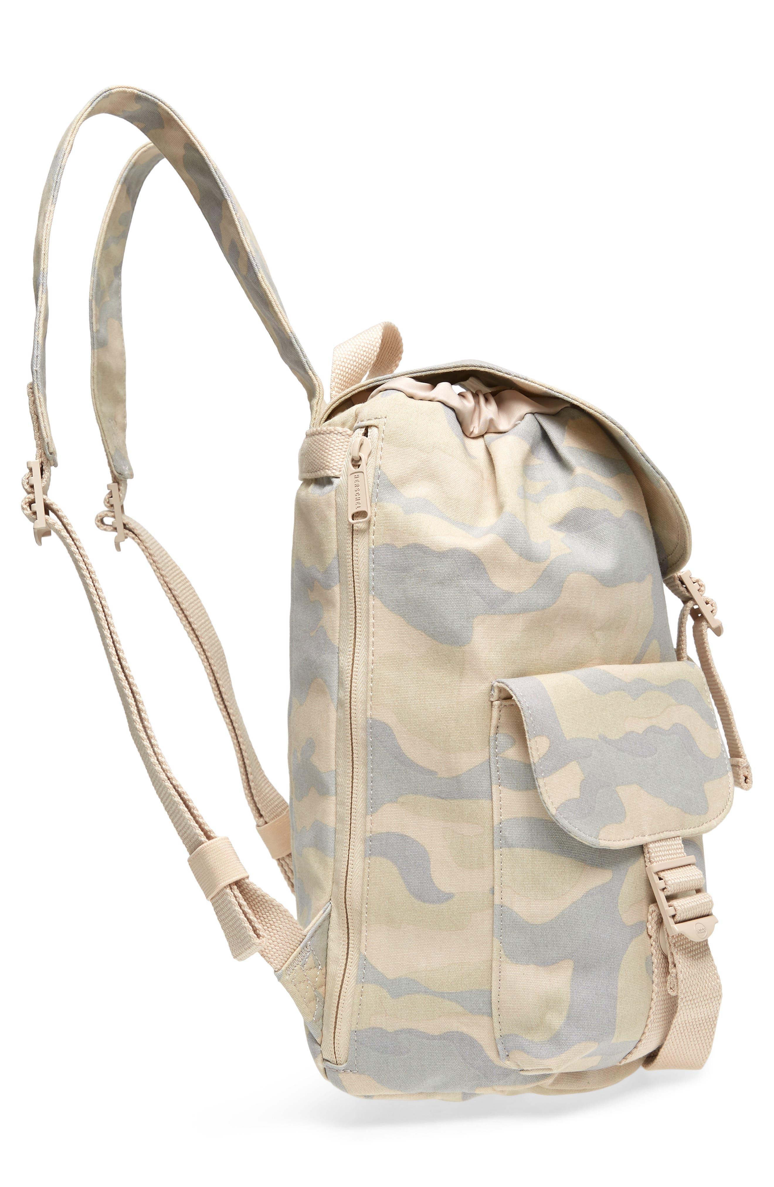 X-Small Dawson Camo Canvas Backpack,                             Alternate thumbnail 5, color,                             900