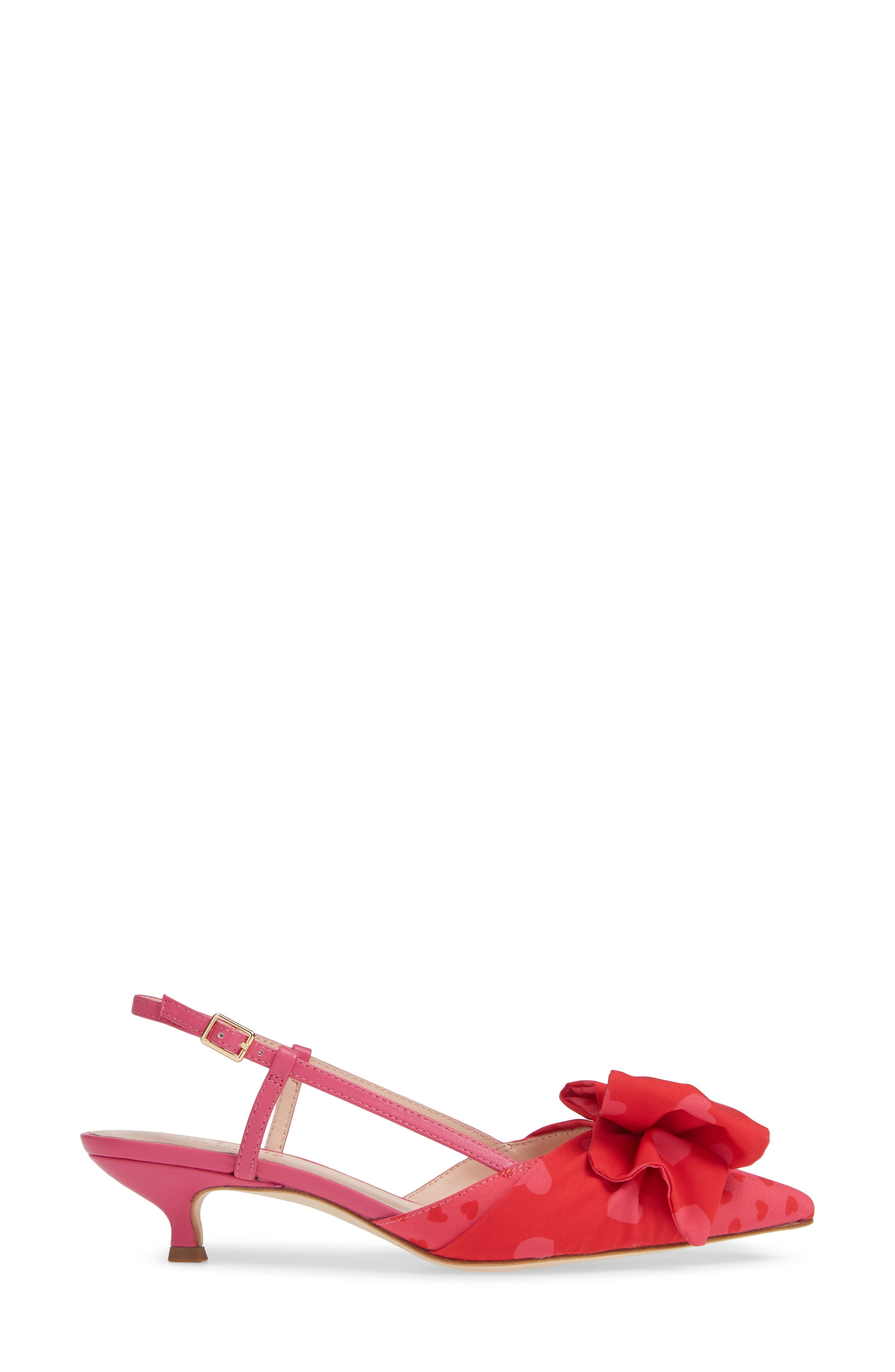 daxton slingback pump,                             Alternate thumbnail 3, color,                             BEGONIA/ ENGINE RED HEART