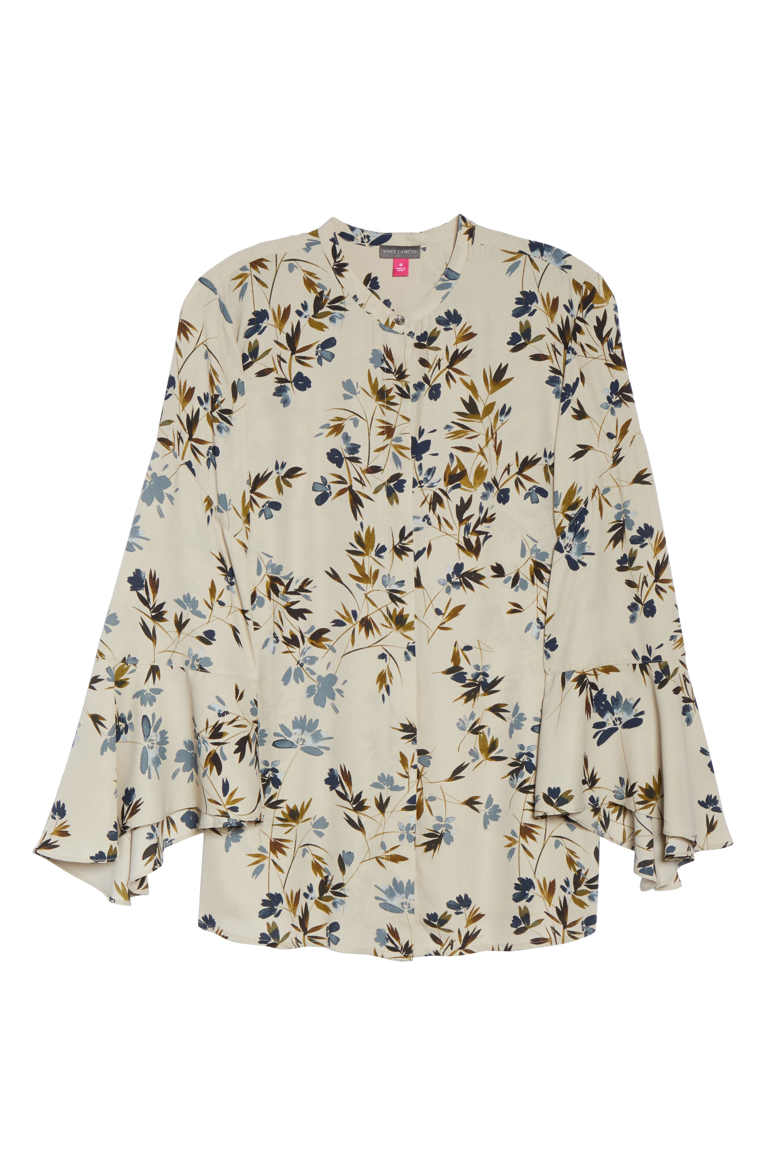 Timeless Bouquet Bell Sleeve Blouse,                             Alternate thumbnail 6, color,                             251
