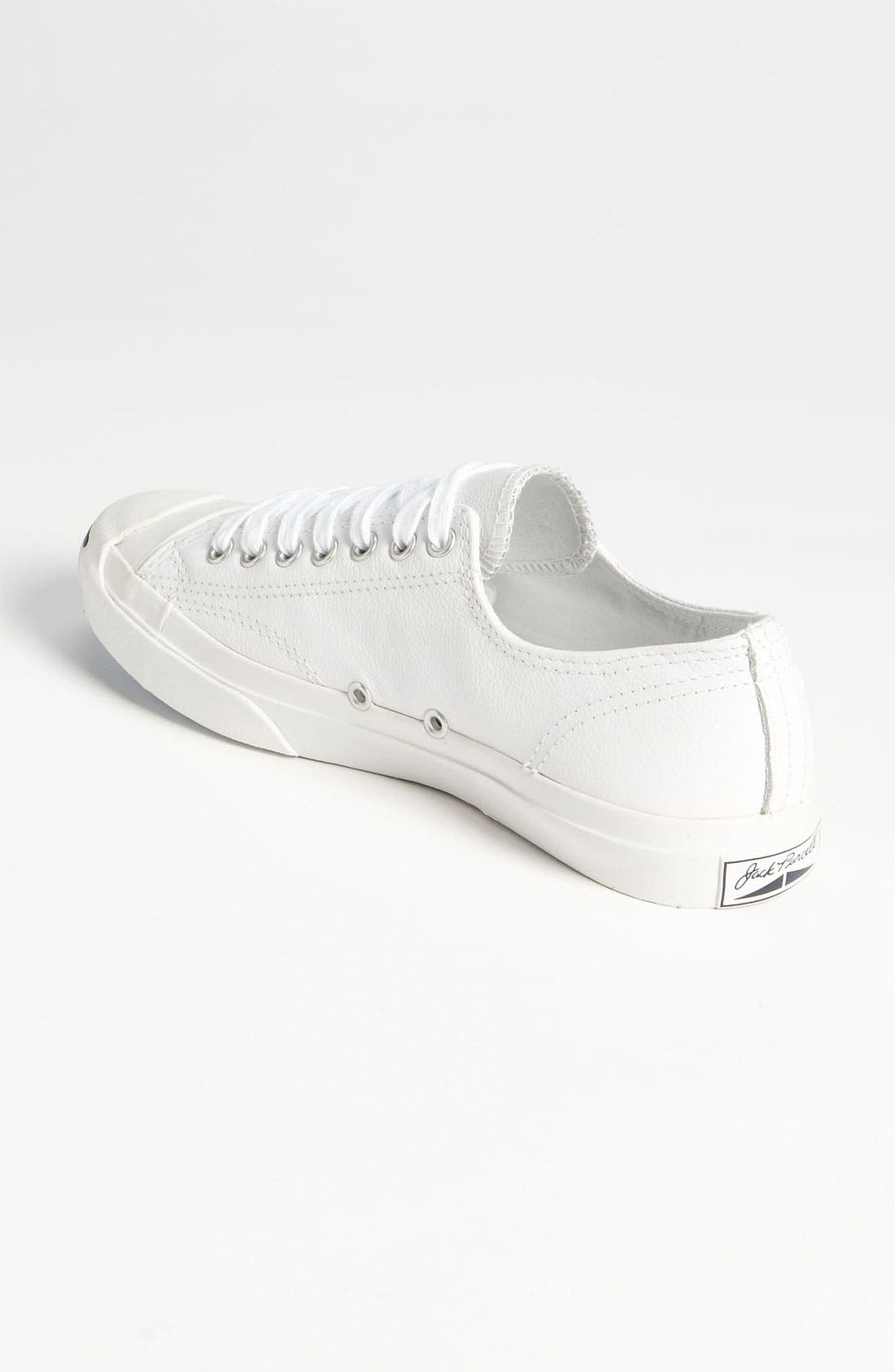 'Jack Purcell' Leather Sneaker,                             Alternate thumbnail 4, color,                             WLE