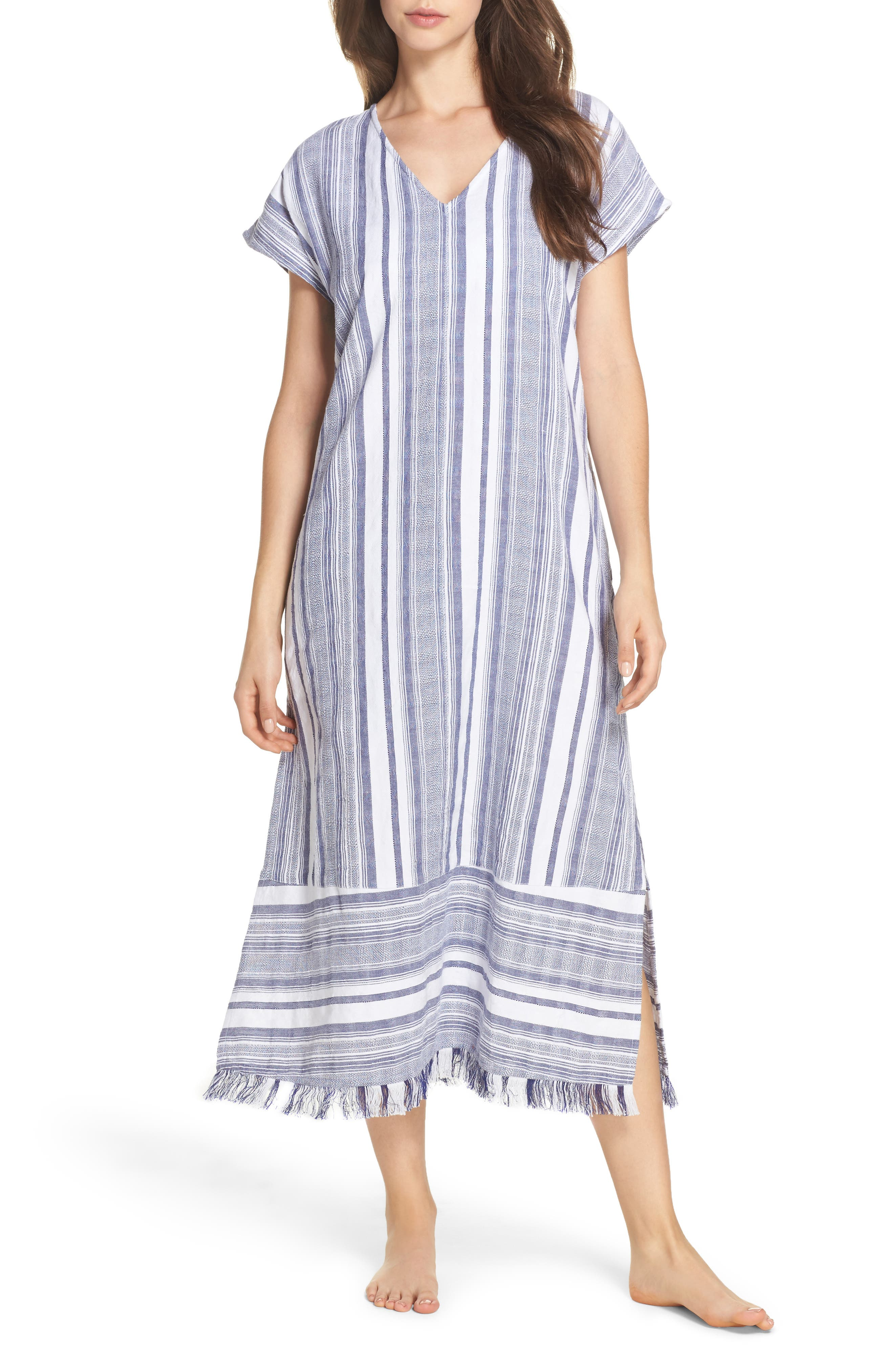 Yarn Dye Stripe Cover-Up Dress,                             Main thumbnail 1, color,