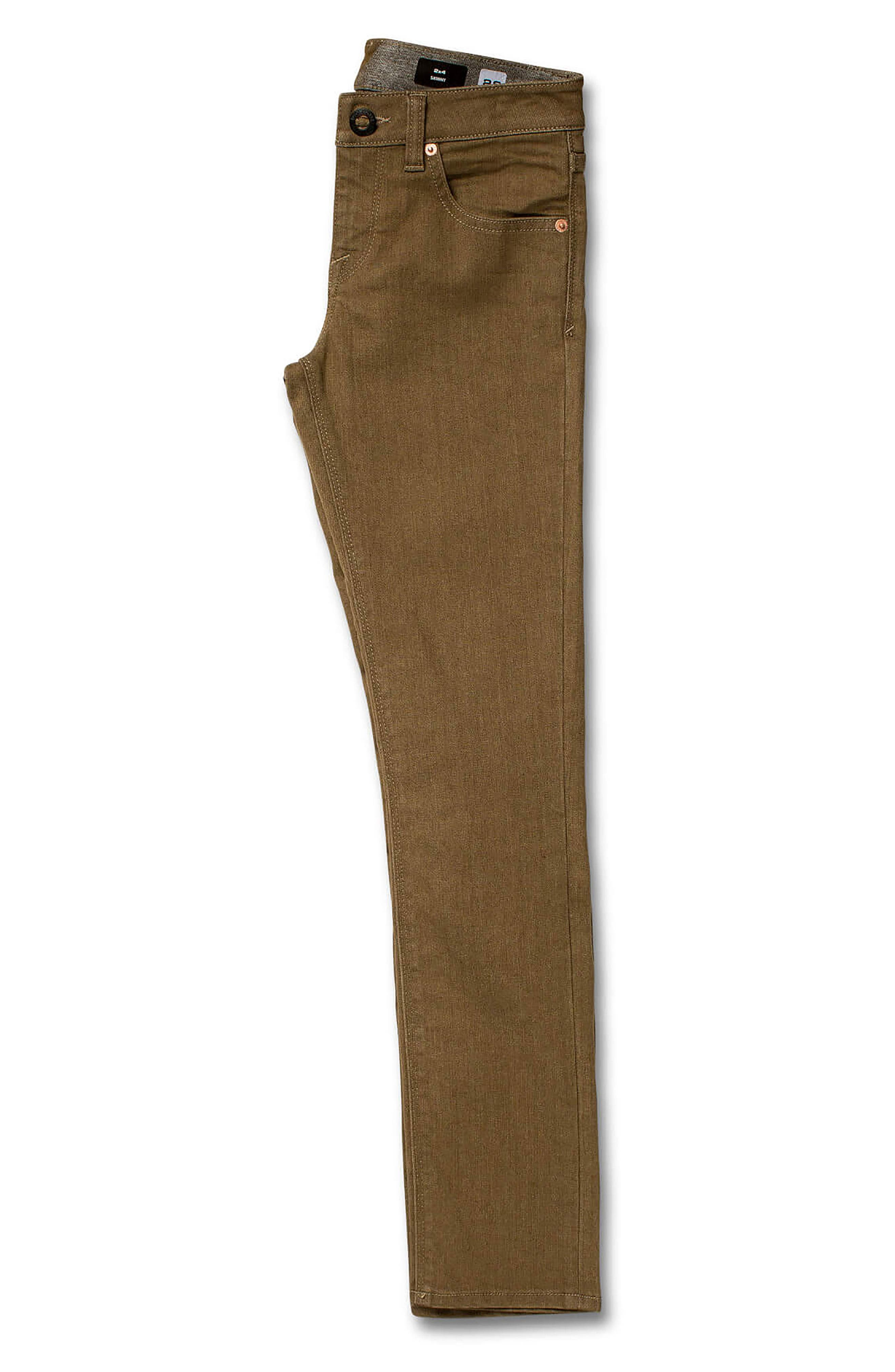 '2x4' Skinny Jeans,                             Alternate thumbnail 3, color,                             WET SAND