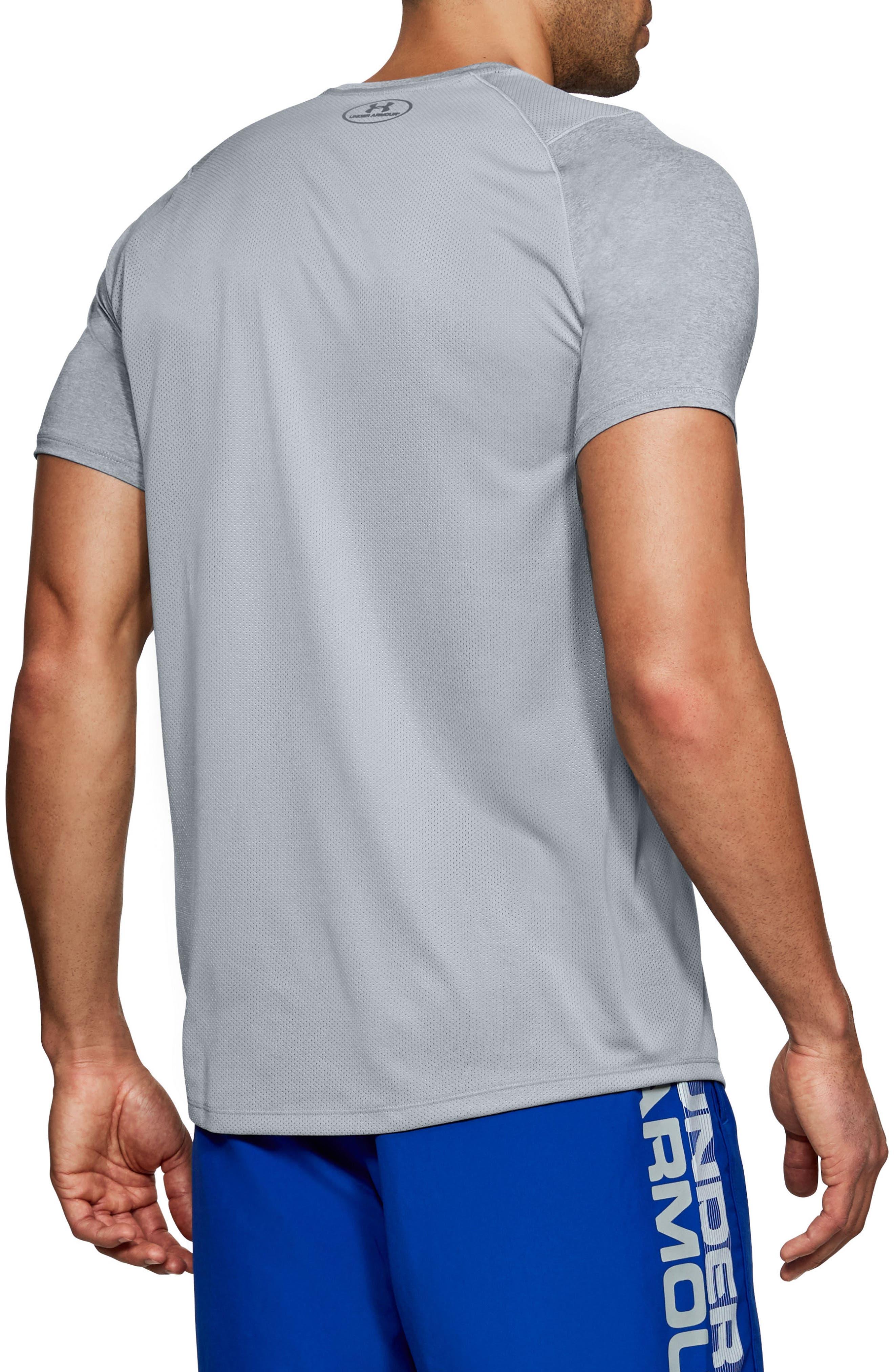 Raid 2.0 Crewneck T-Shirt,                             Alternate thumbnail 2, color,                             STEEL LIGHT HEATHER/ GRAPHITE