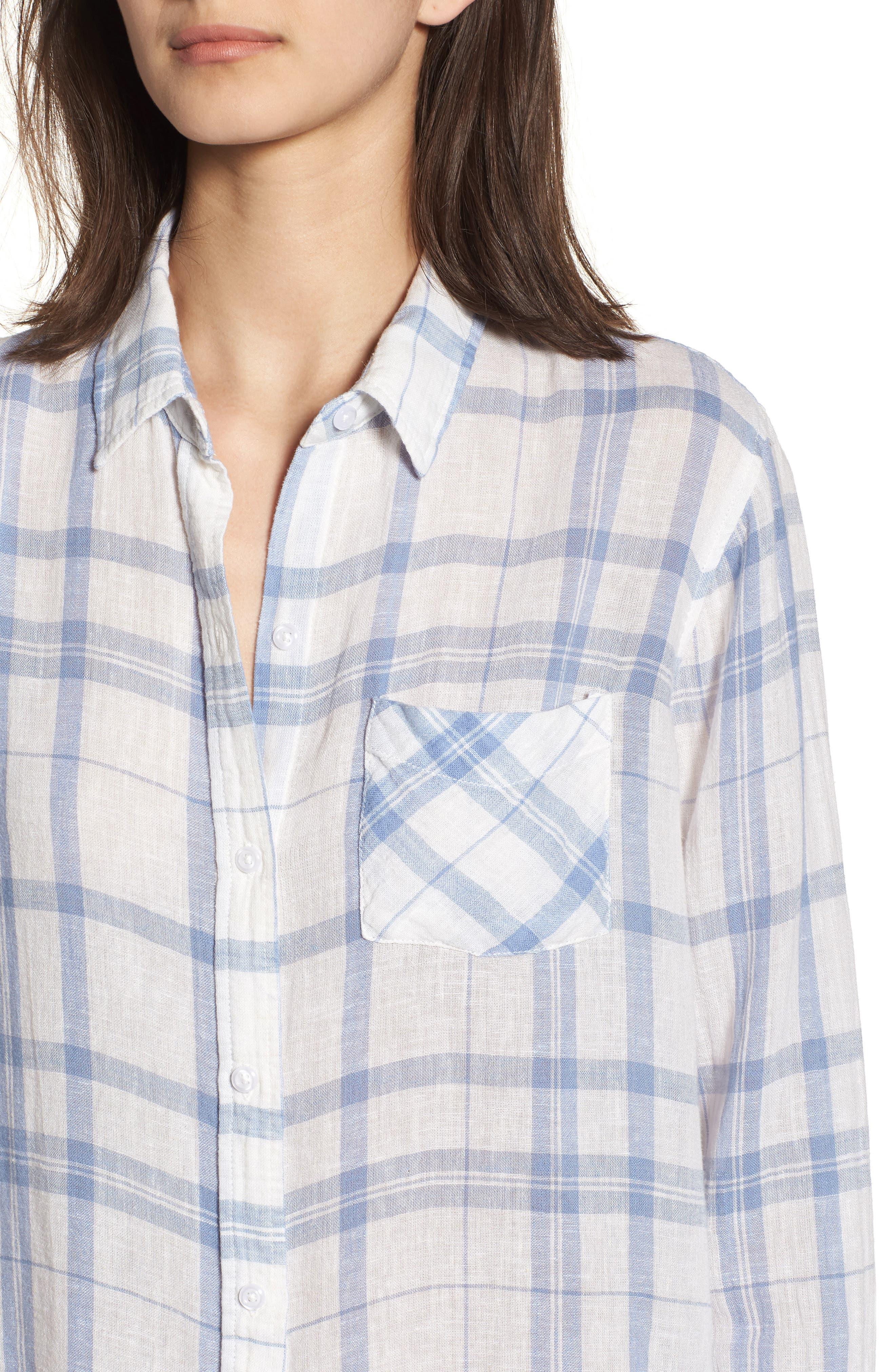 Charli Shirt,                             Alternate thumbnail 4, color,                             TRUE BLUE WHITE