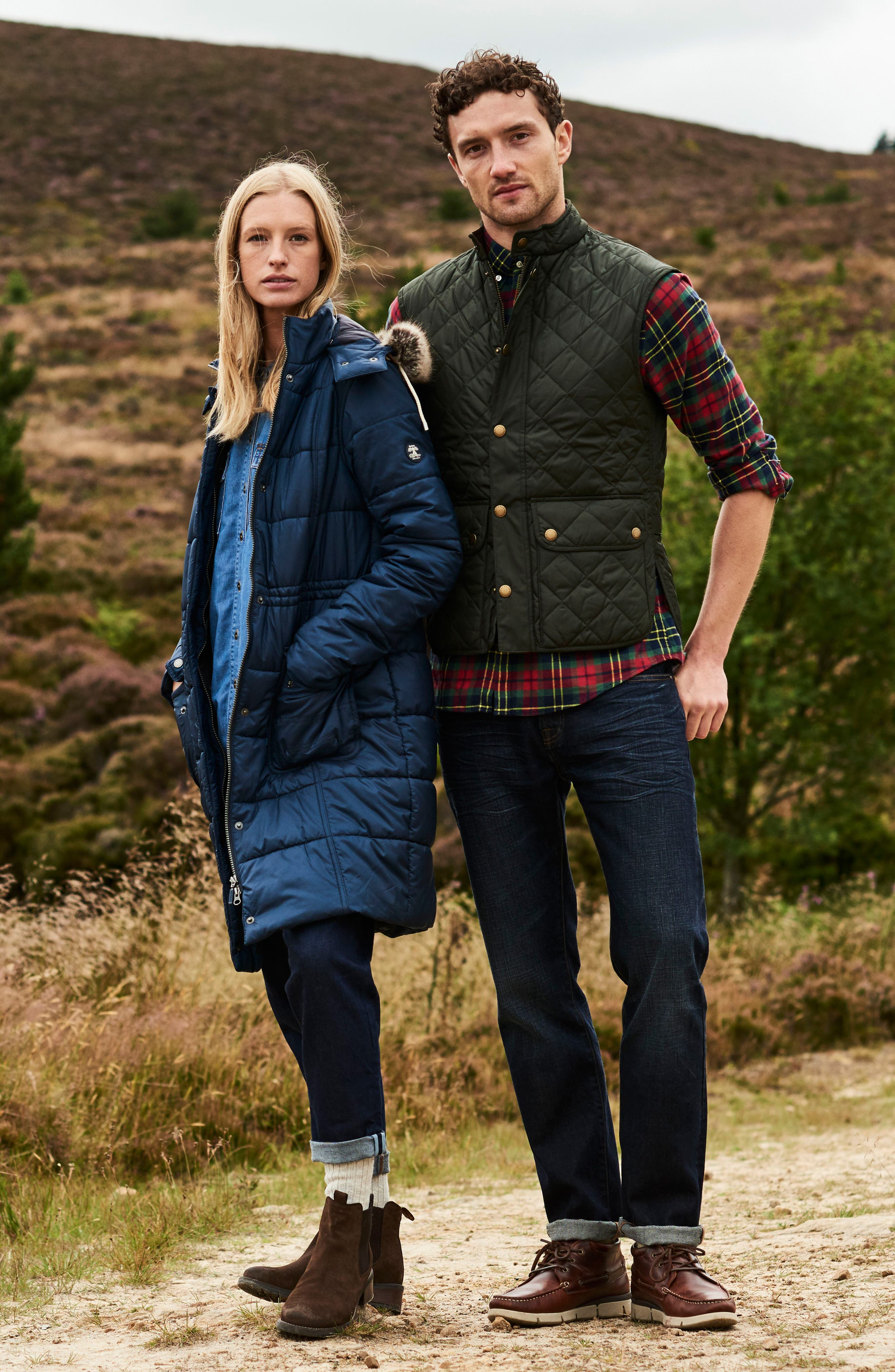 Winterton Water Resistant Hooded Quilted Jacket with Faux Fur Trim,                             Alternate thumbnail 13, color,