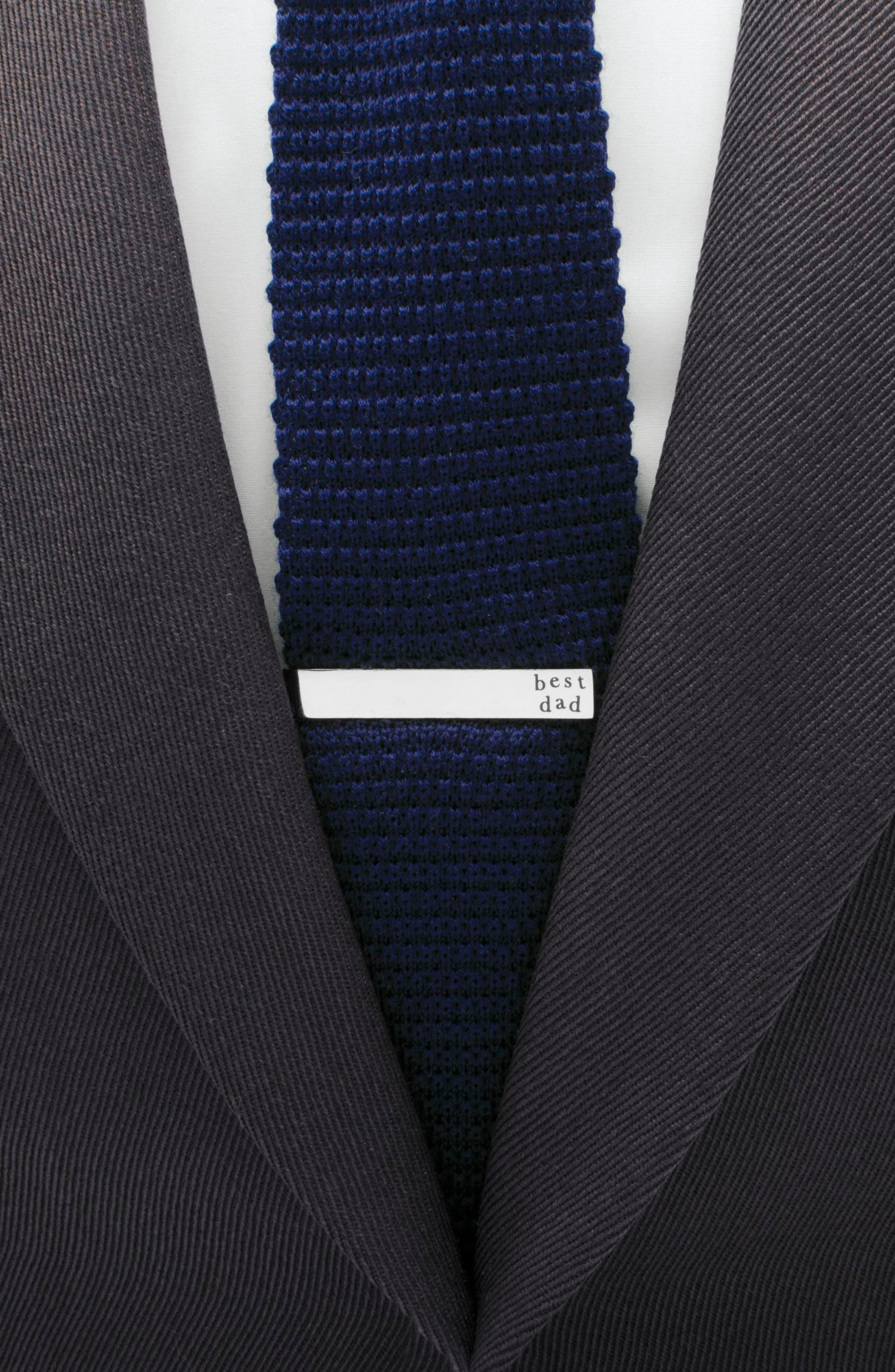 Best Dad Tie Bar,                             Alternate thumbnail 3, color,                             SILVER