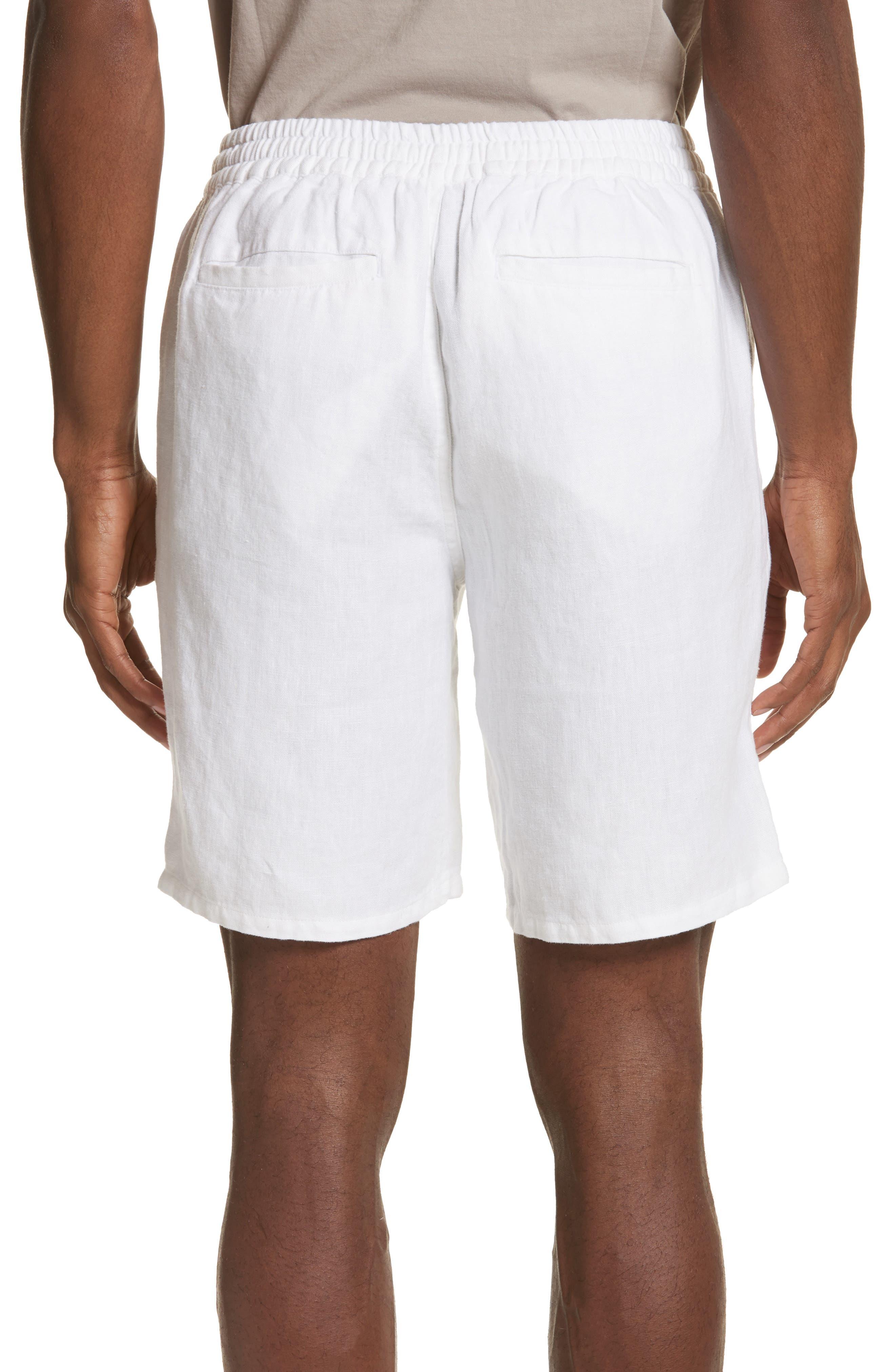 Max Linen Shorts,                             Alternate thumbnail 2, color,                             WHITE