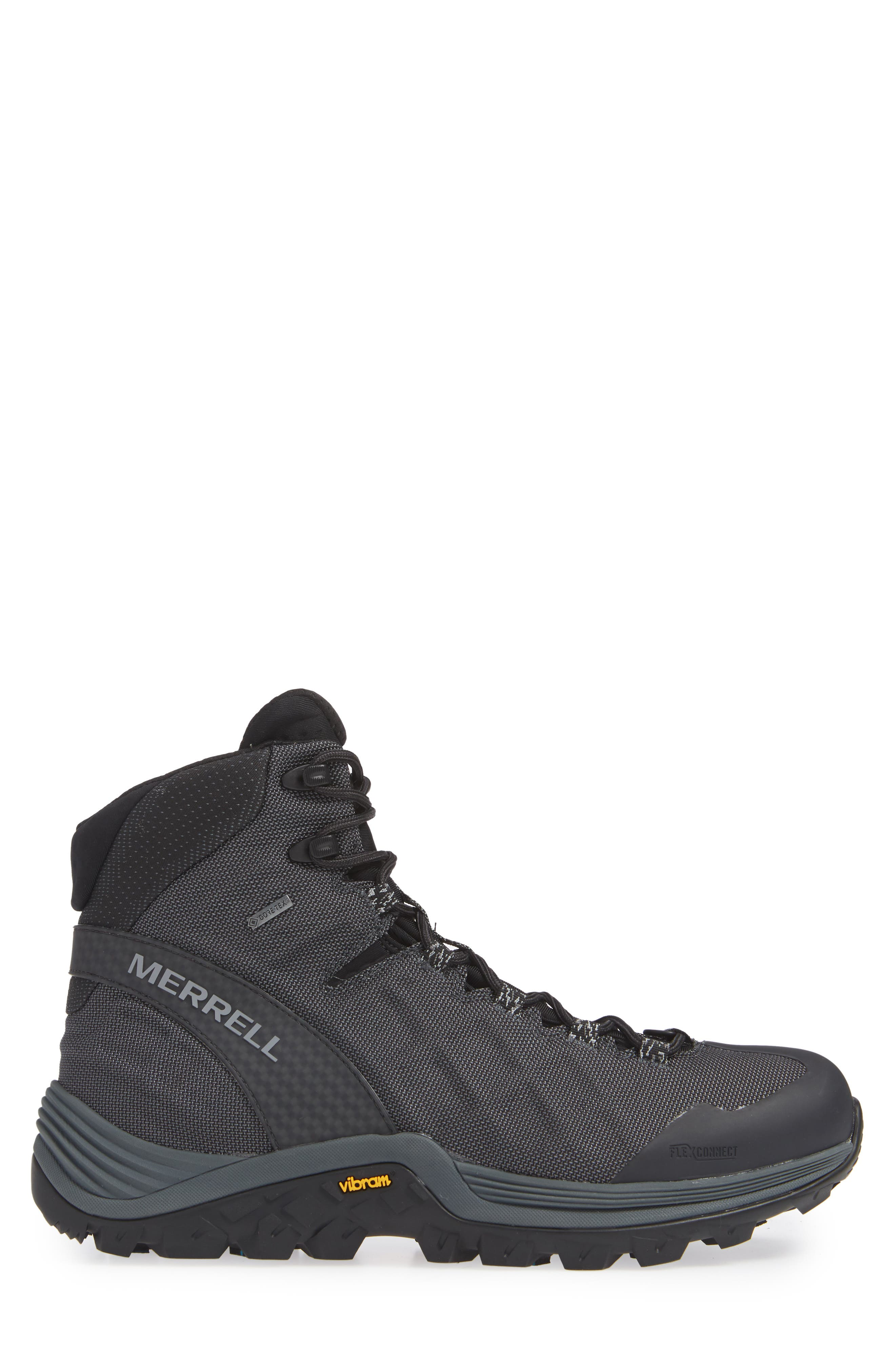 Thermo Rogue Gore-Tex<sup>®</sup> Waterproof Boot,                             Alternate thumbnail 3, color,                             BLACK