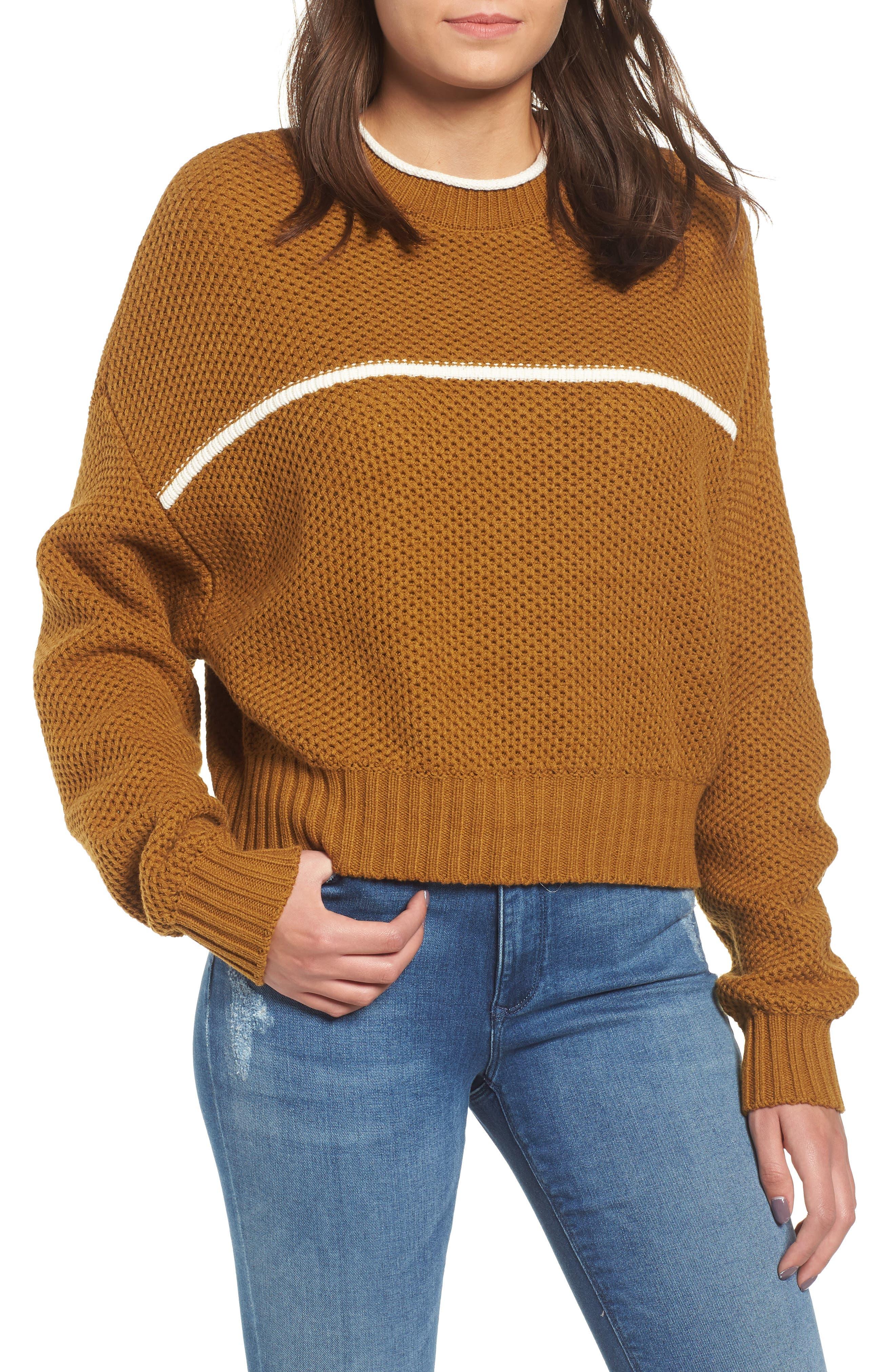 Rvca Jammer Seed Stitch Sweater, Yellow