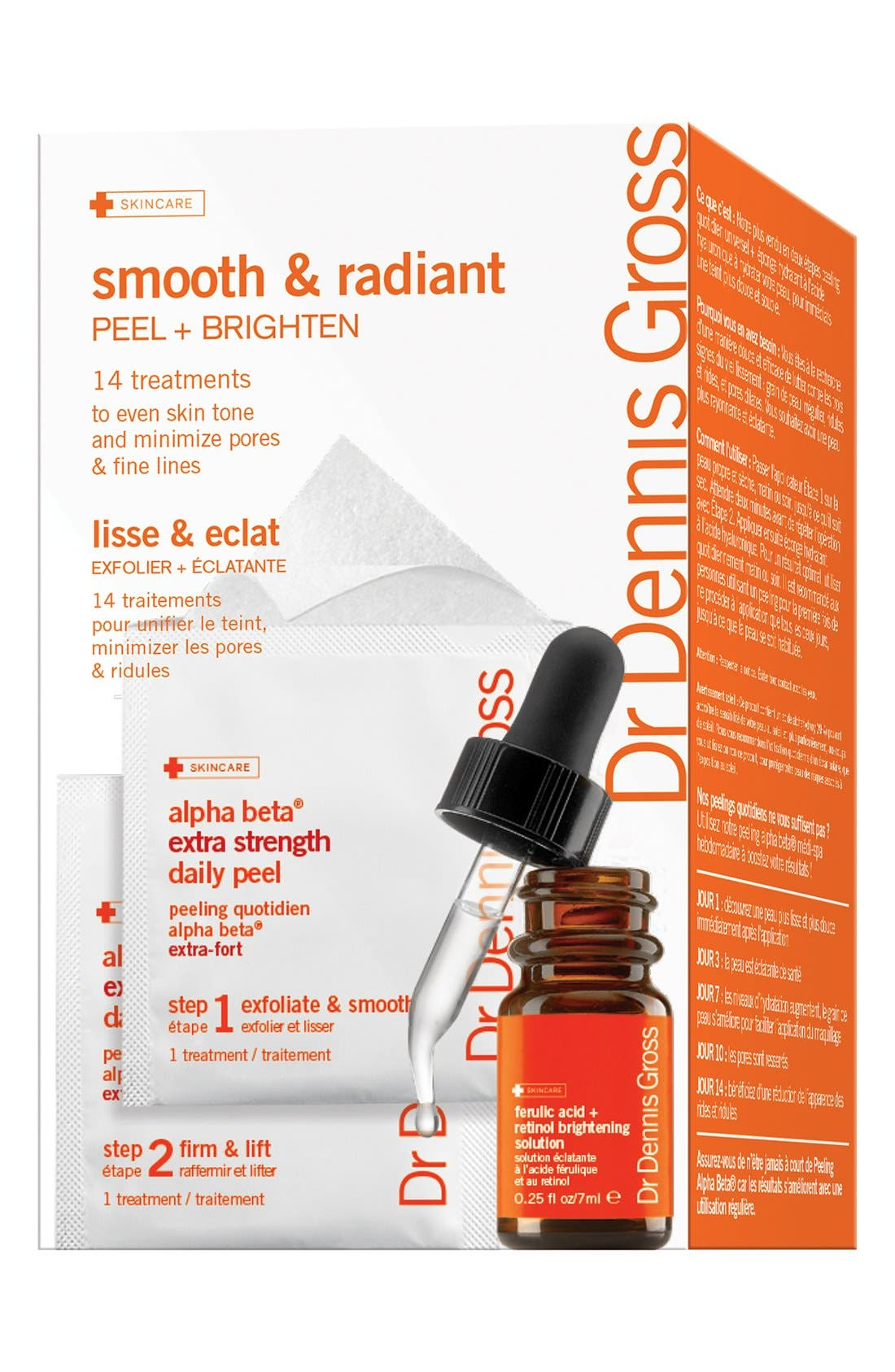 Smooth & Radiant 14-Day Peel Starter Set,                             Main thumbnail 1, color,                             NO COLOR