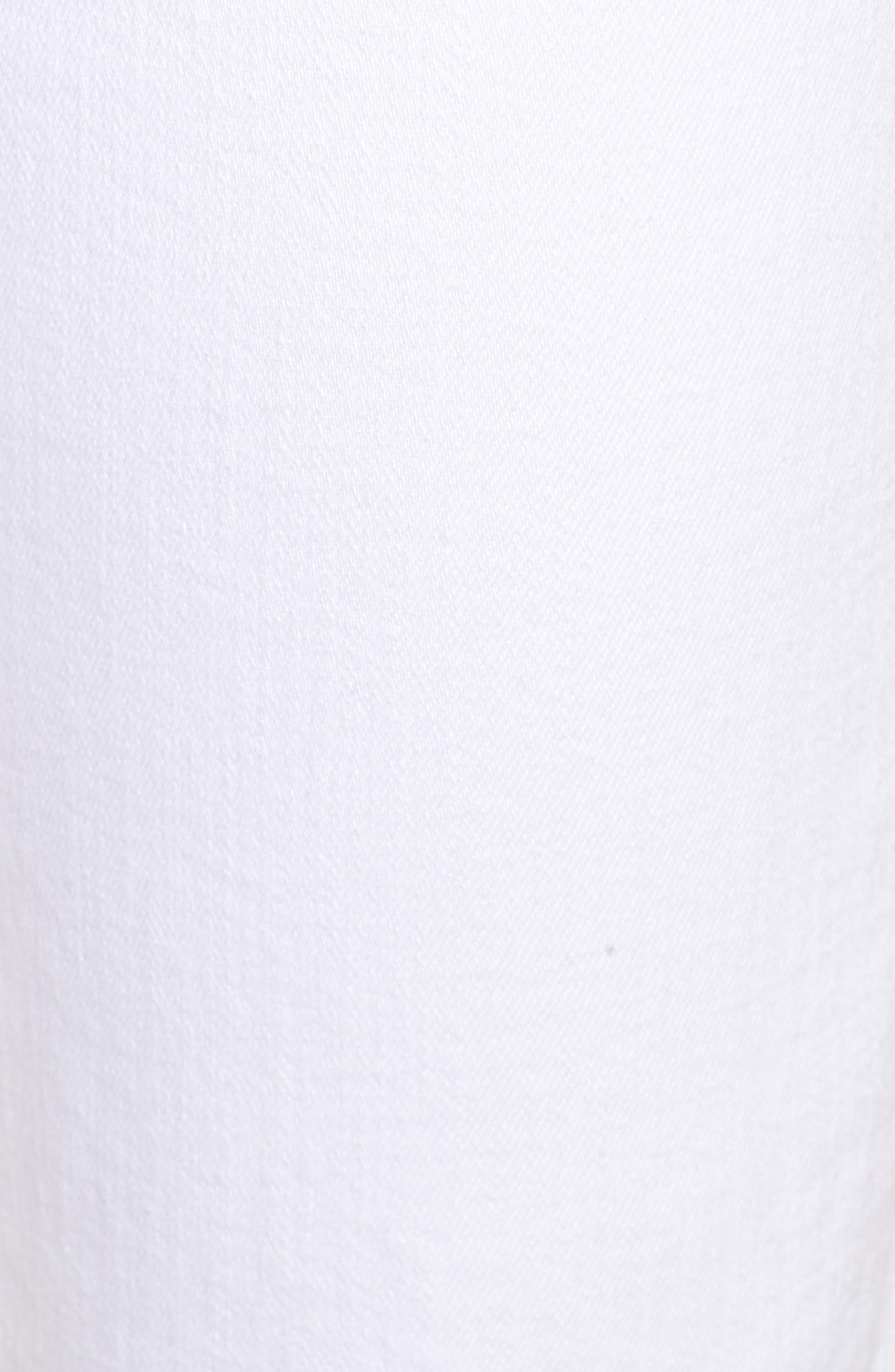 Valletta High Waist Crop Straight Leg Jeans,                             Alternate thumbnail 6, color,                             100