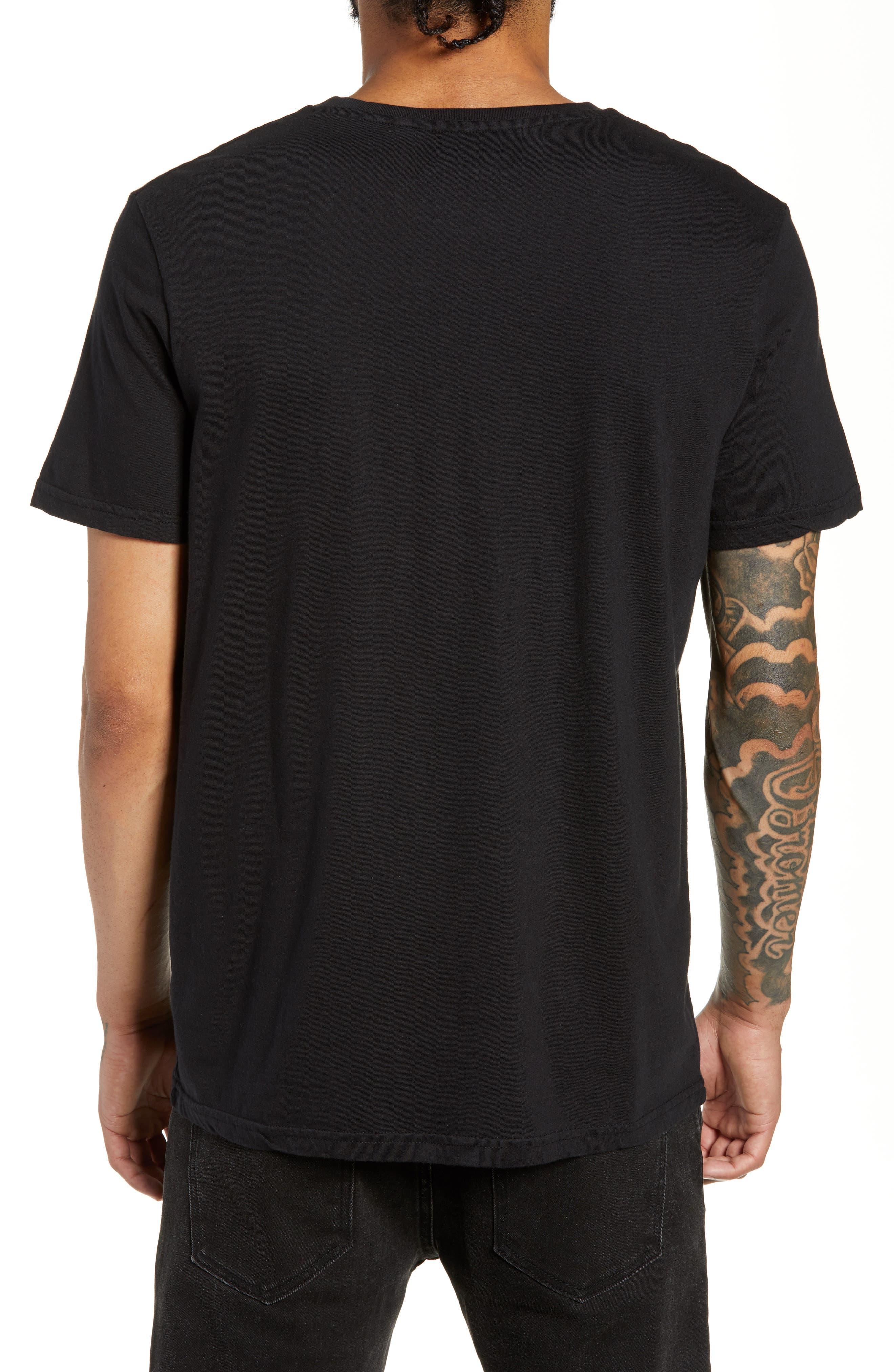 Thug for Life Graphic T-Shirt,                             Alternate thumbnail 2, color,                             BLACK