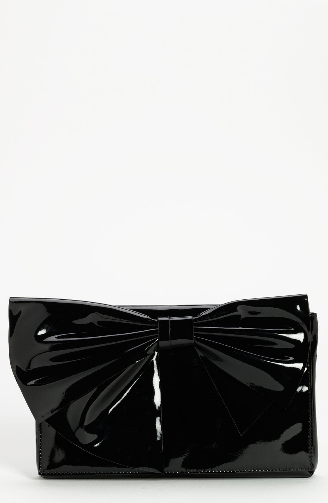 'Lacca Bow' Clutch,                             Main thumbnail 1, color,                             001