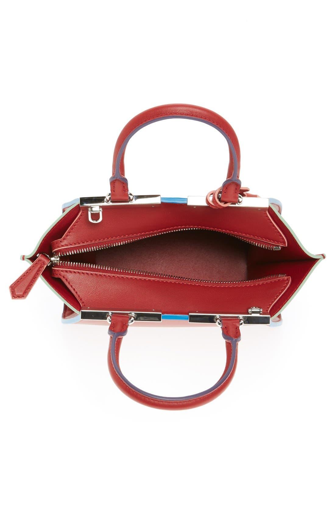 'Mini 3Jours' Calfskin Leather Shopper,                             Alternate thumbnail 10, color,