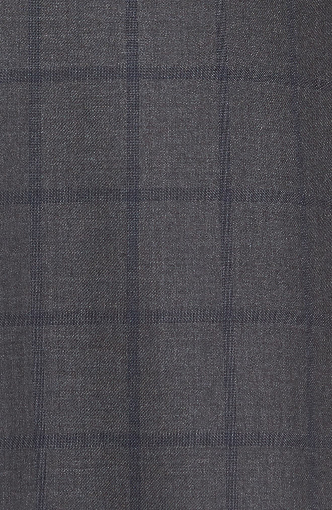 Classic Fit Windowpane Wool Suit,                             Alternate thumbnail 7, color,                             344